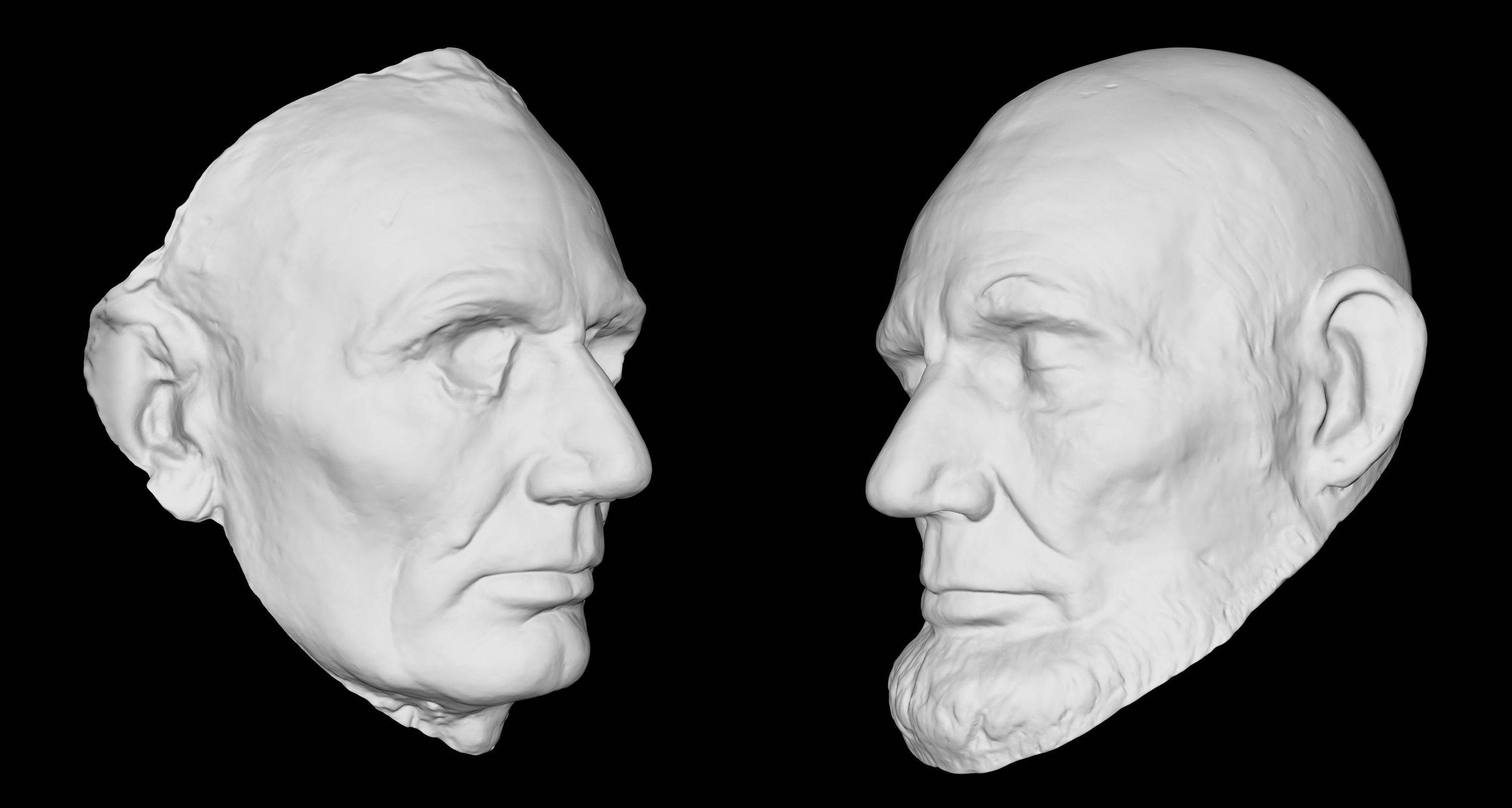 A 3-D rendering of Abraham Lincoln�s life mask, held at the Smithsonian�s National Portrait Gallery. The Smithsonian is launching a new 3D viewer online Wednesday Nov. 13, 2013 to give people a closer look at artifacts in their own homes.