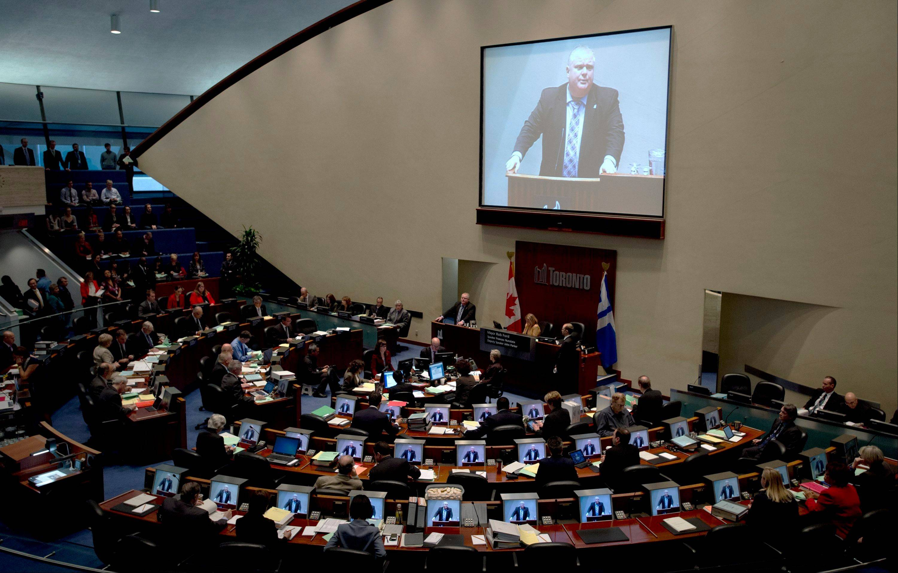 Mayor Rob Ford�s refusal to resign has confounded Toronto�s city council, where many members agree that his erratic behavior has consumed Toronto�s politics and undermined efforts to tackle other challenges.