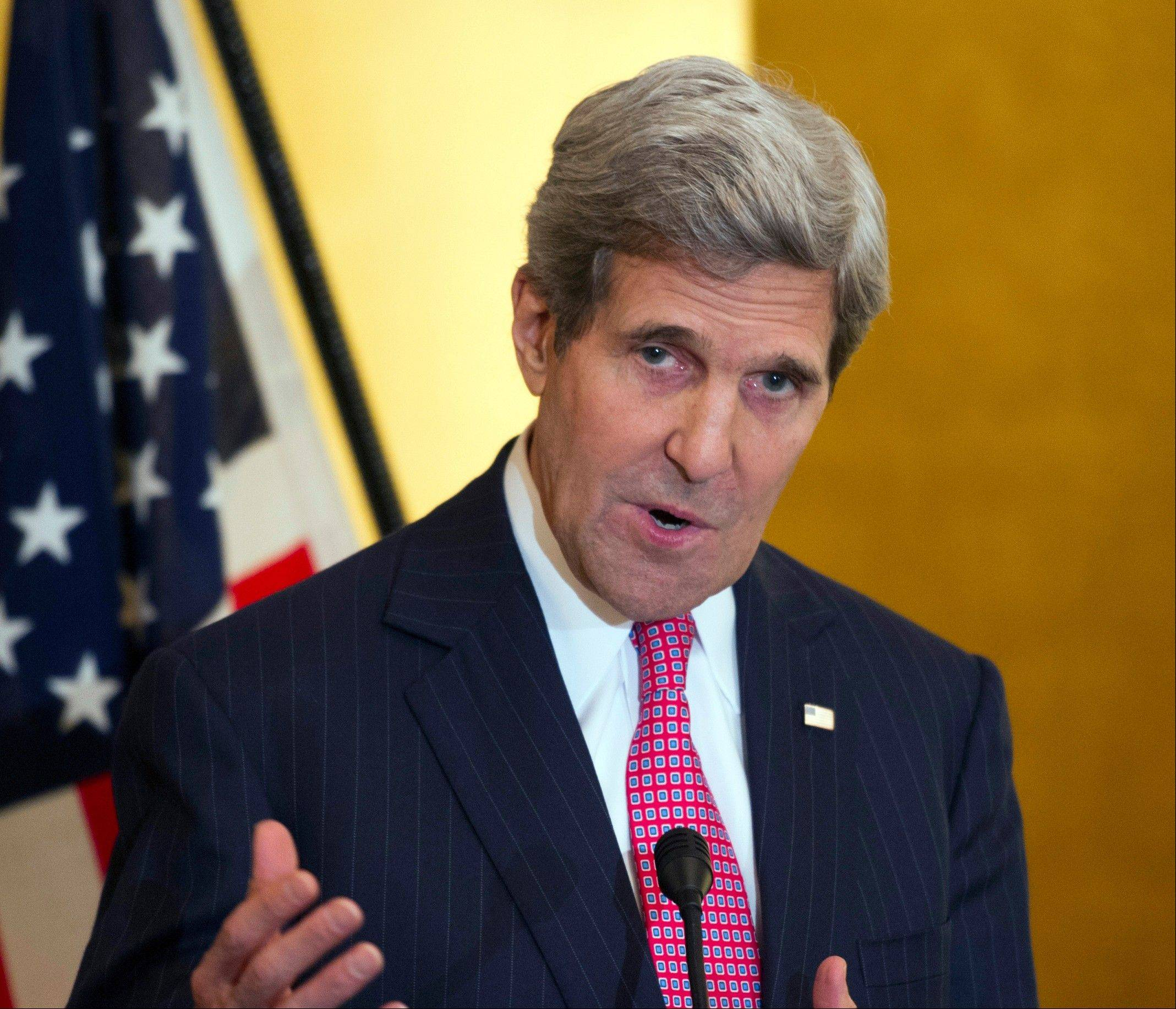 Back from a week of nuclear talks in Geneva and tense consultations with nervous Middle East allies, Secretary of State John Kerry was to present the administration�s case to his ex-colleagues in the Senate on Nov. 13 and ask them to hold off on a package of new, tougher Iran sanctions under consideration.