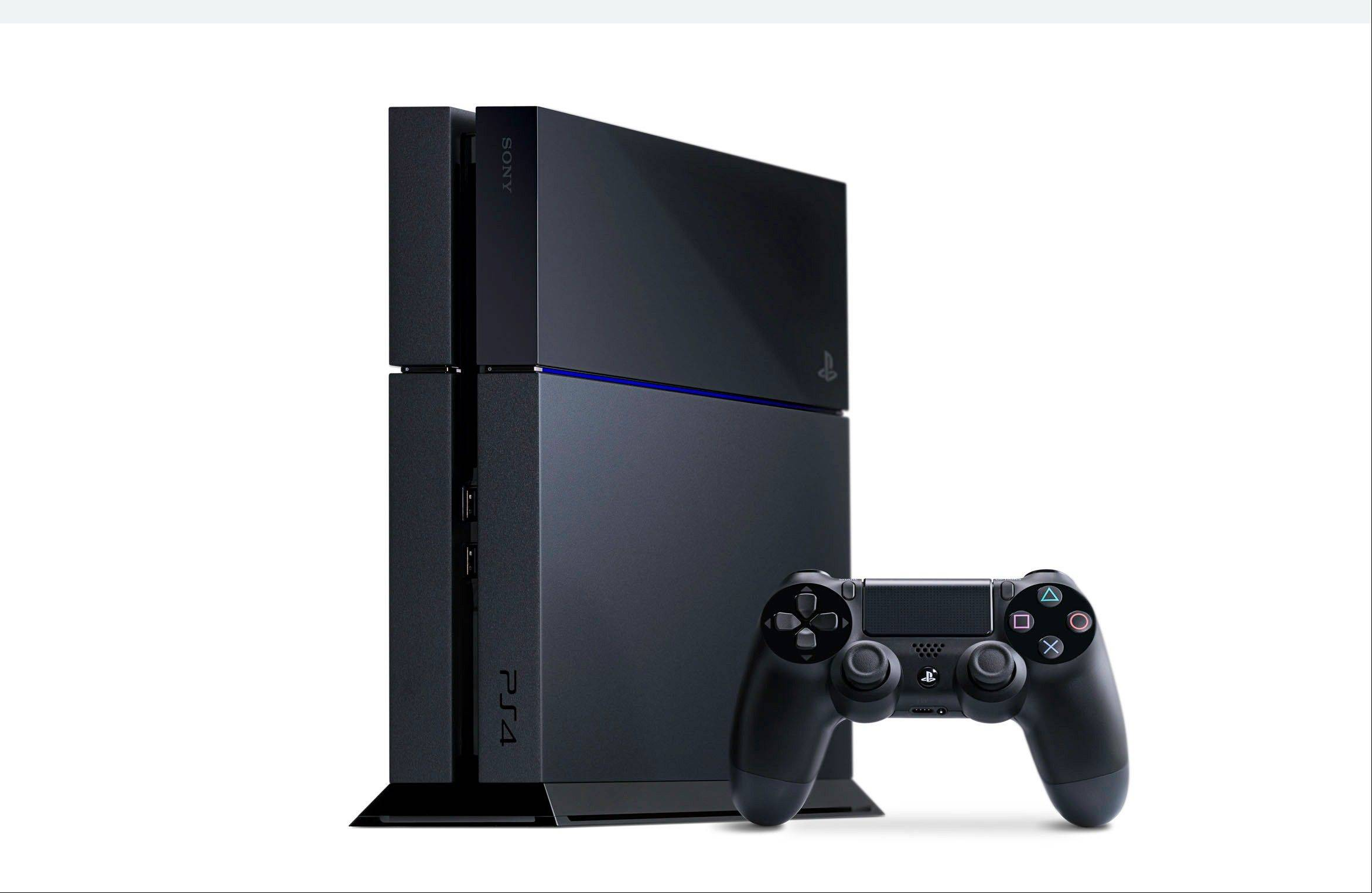 Sony PlayStation 4's on-screen user interface has been streamlined, with a horizontal bar of large icons for games and apps.