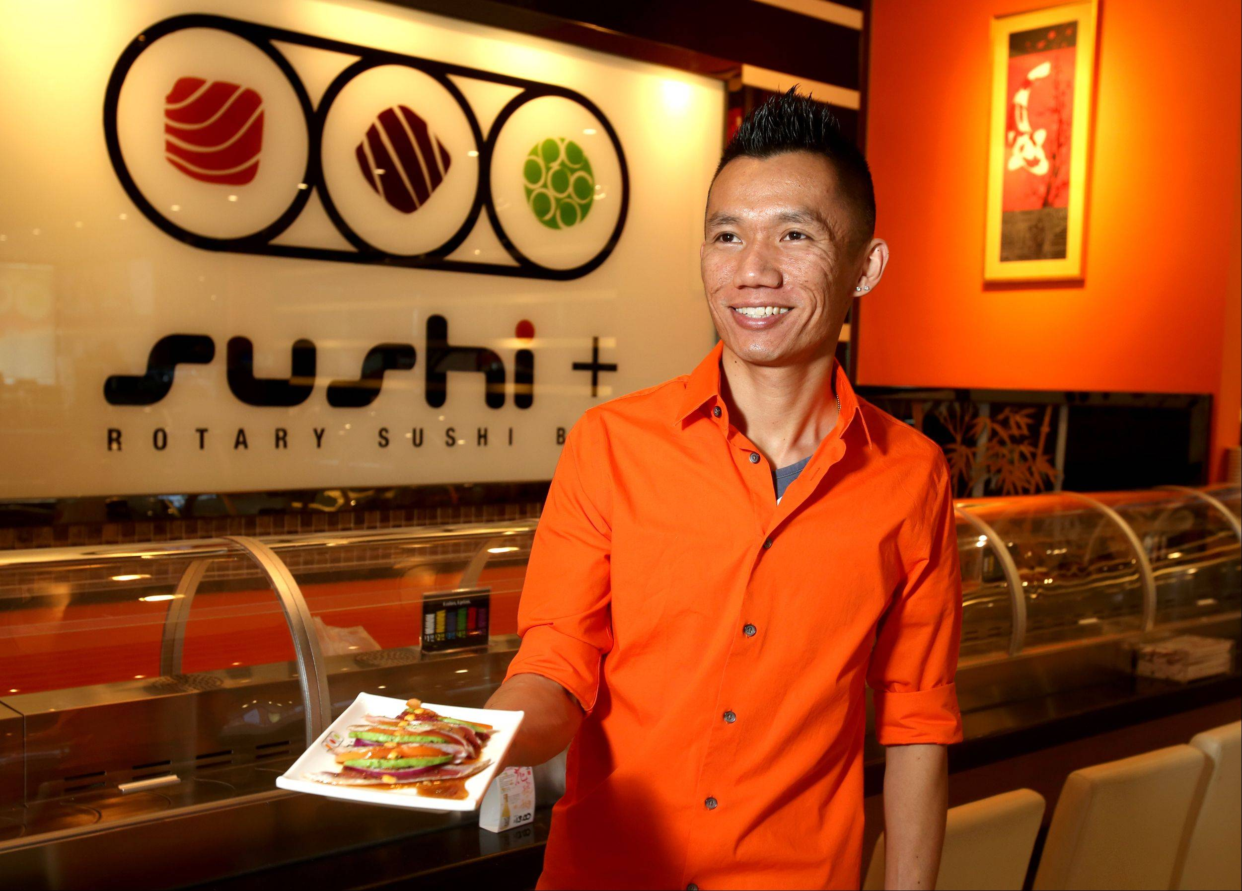 Jason Chooi opened Sushi + Rotary Sushi Bar earlier this year.