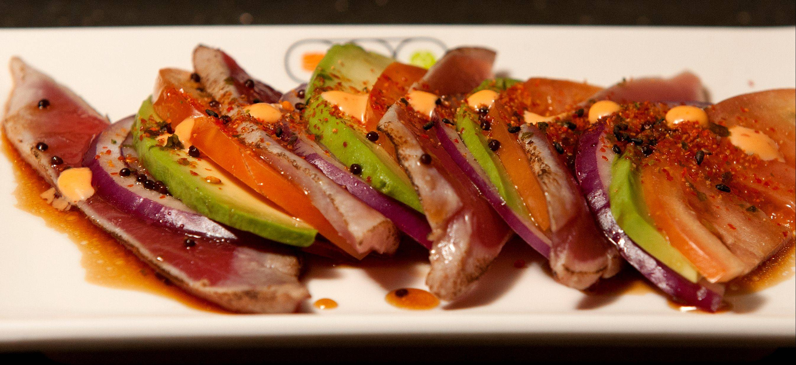 Tuna Tataki is a palate pleaser at Sushi + Rotary Sushi Bar in Aurora.