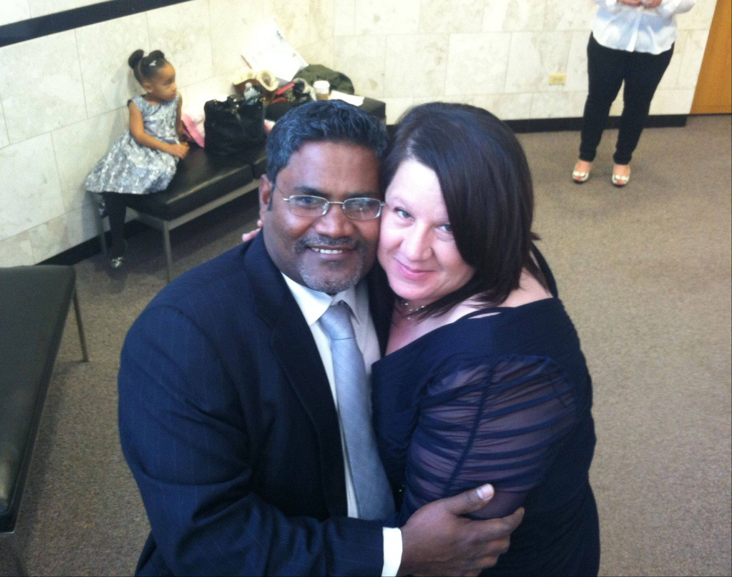 Married on 11/12/13, they'll have an unforgettable anniversary date, said Candance Broadway and Shaik Javeed of Zion, who married Tuesday at the Lake County courthouse.