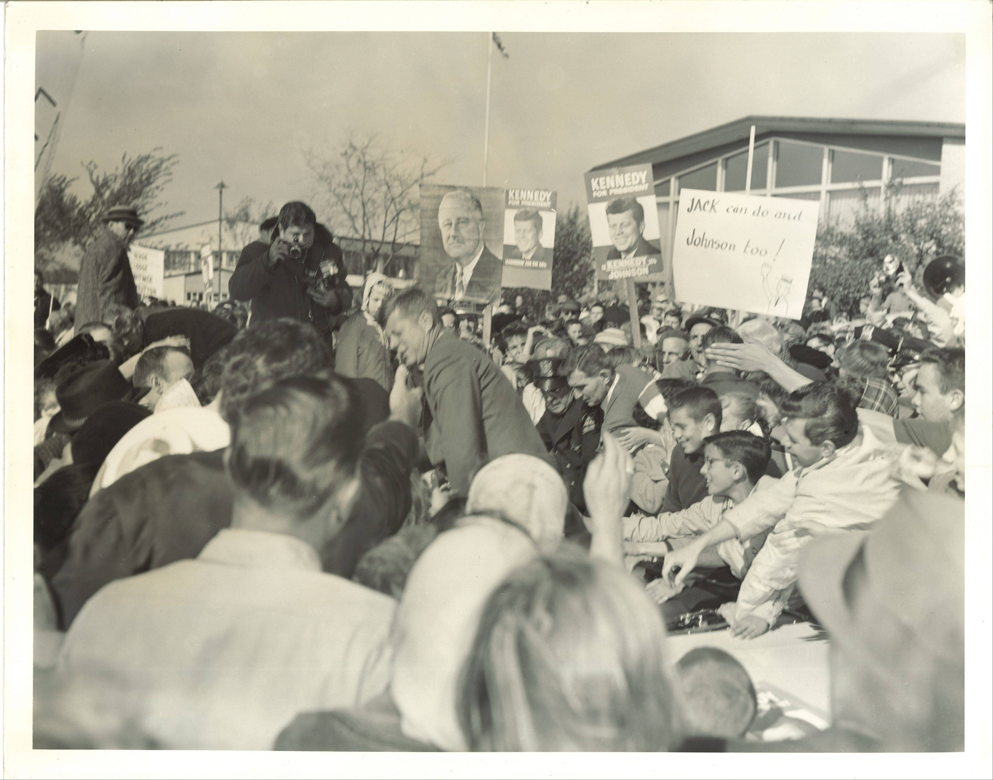John F. Kennedy visited Barrington while on the campaign trail in 1960.