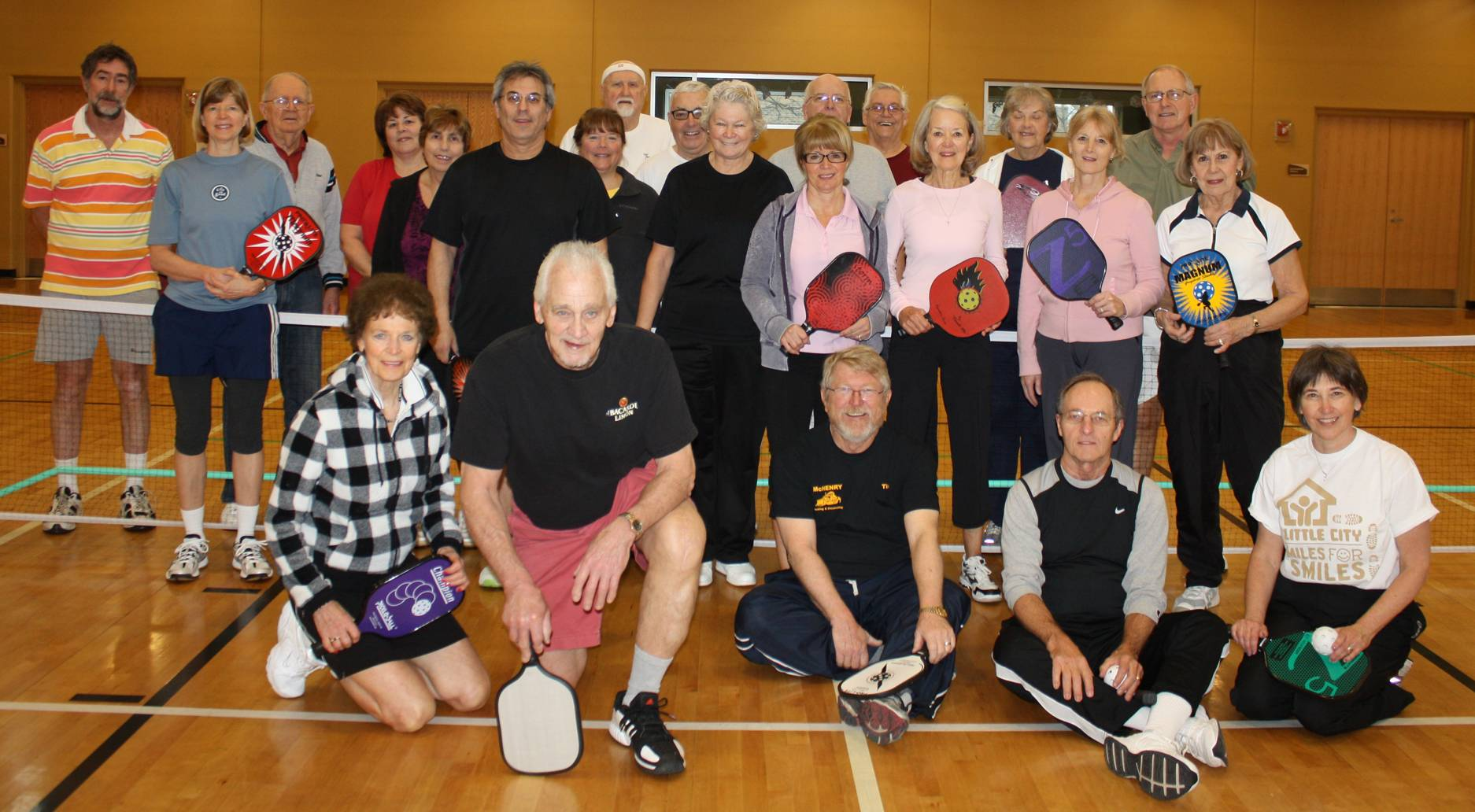 The 50+ Pickleball Group plays on Mondays and Fridays. A new adult group will begin play on Wednesdays as of November 20.
