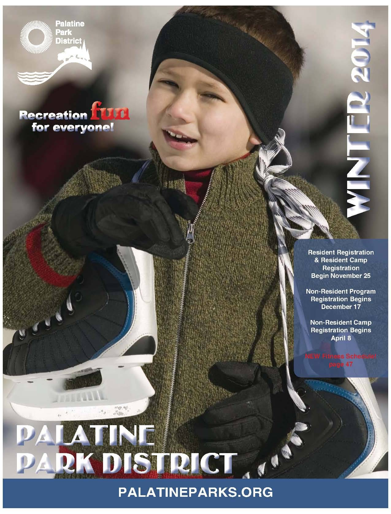 The new Winter Catalog will be Palatine Park District's first full color catalog.