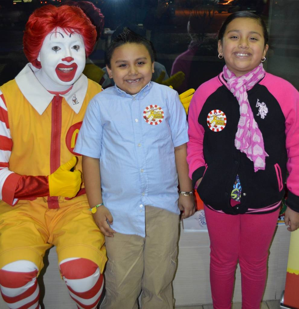 Edward and Yadhiva Aranda were so happy to meet Ronald McDonald