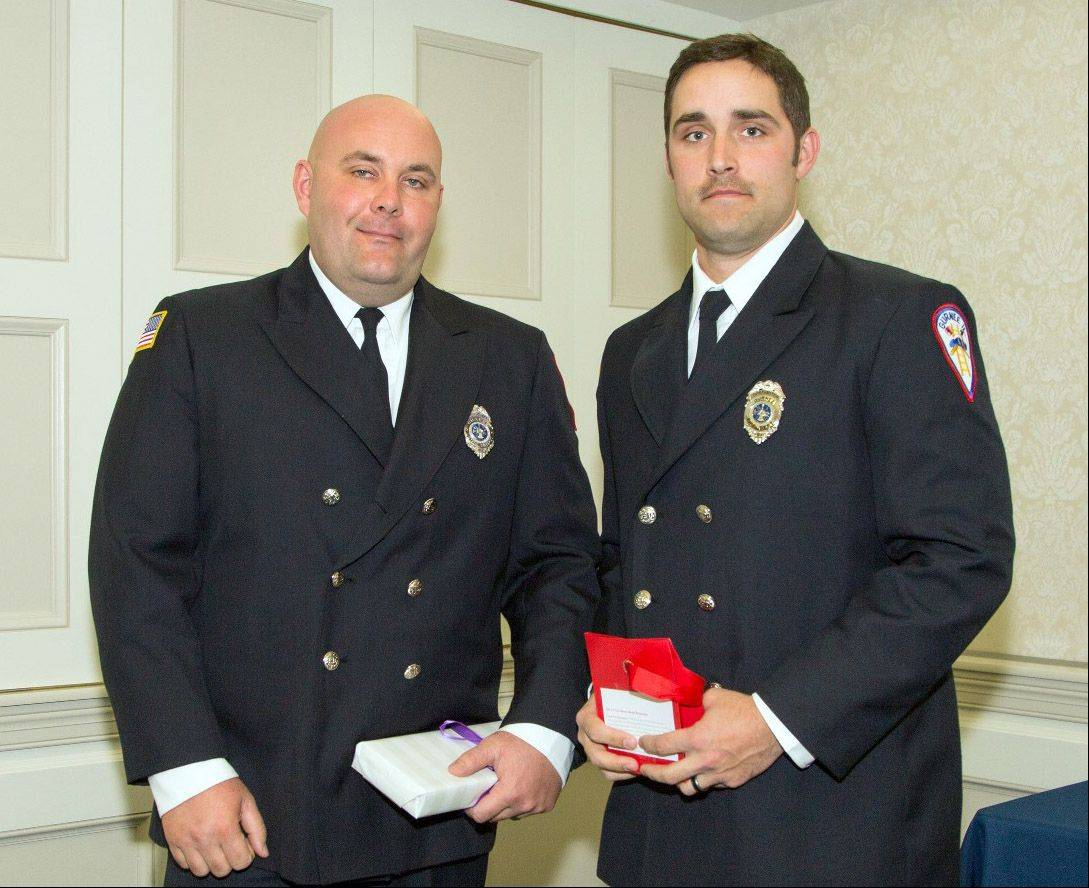 Robert Davidson and Scott Rans, firefighters/paramedics from the Gurnee Fire Department at the A Cut Above Award Ceremony.
