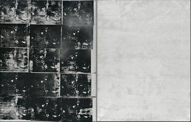 "Andy Warhol's auction record soared as the Pop Art icon's silk-screen painting ""Silver Car Crash (Double Disaster)"" sold for $105.4 million."