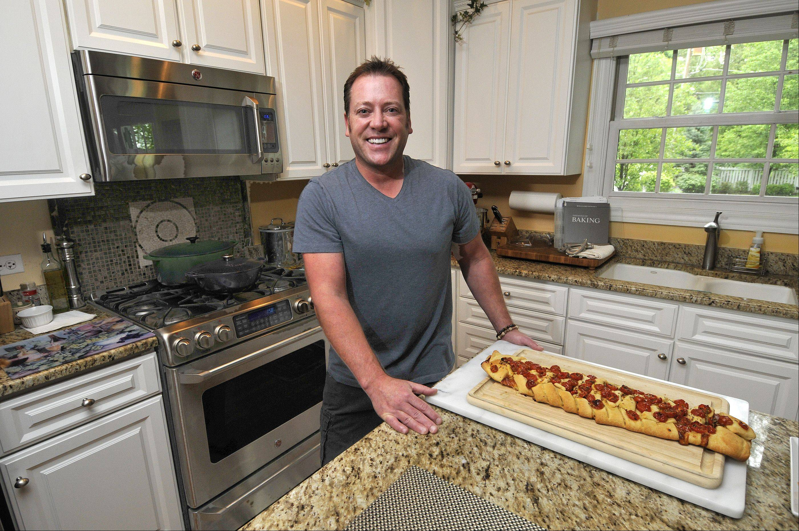 Brian Emmett, the Itasca dad who won CBS's America's Baking Competition, will demonstrate some of his favorite recipes at 10:30 a.m. Saturday at America's Baking and Sweets Show.