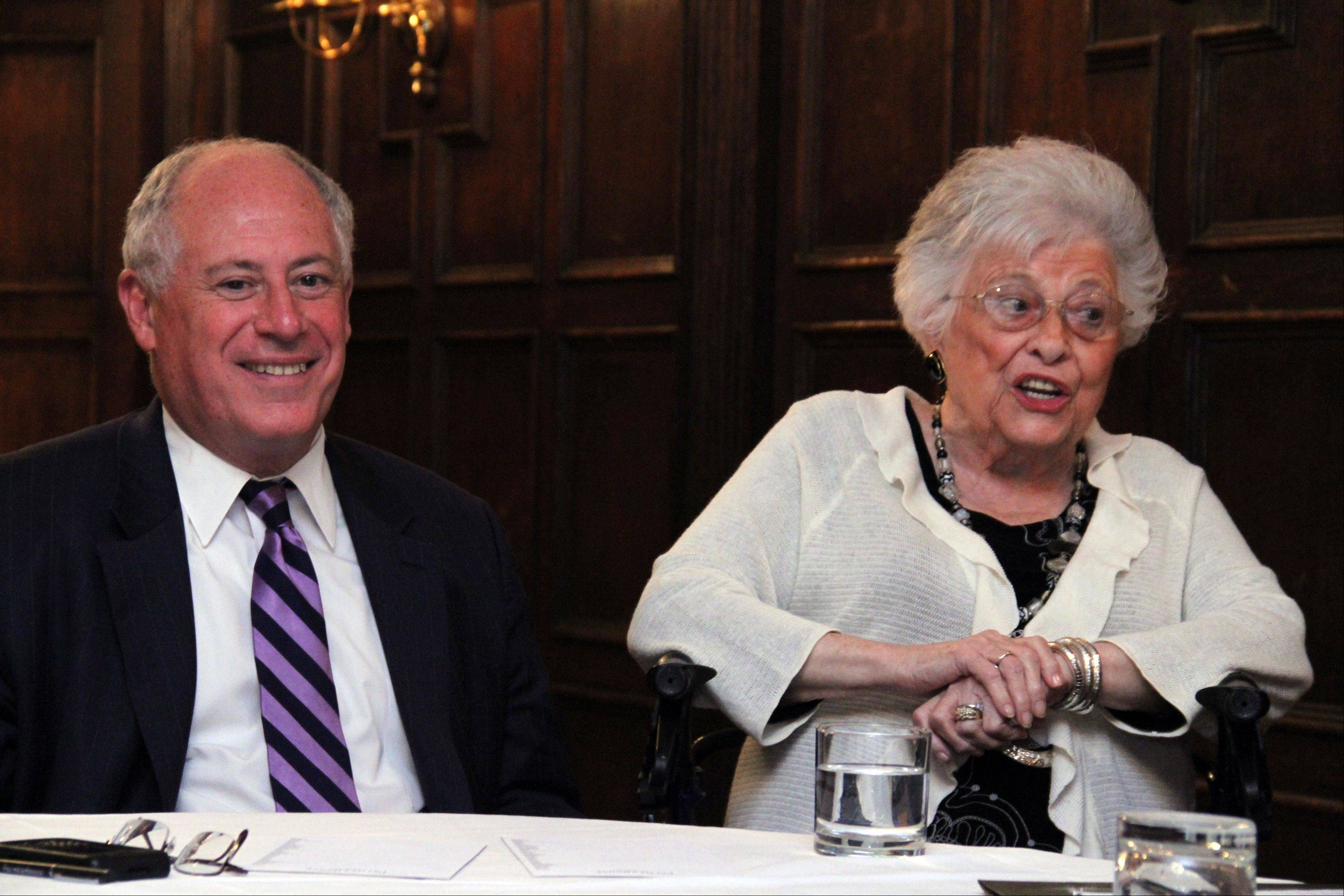 Gov. Pat Quinn and his mother, Eileen