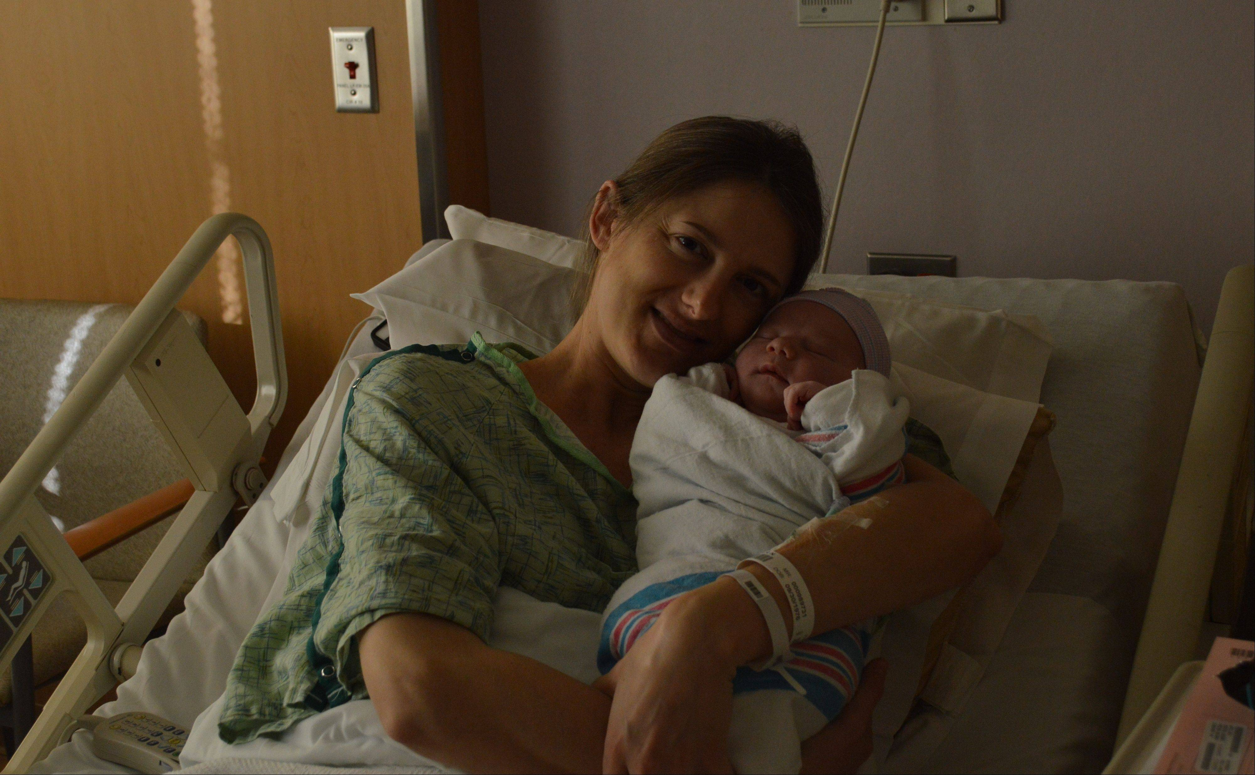 Jennifer White's son, Joshua, was born at 10 a.m. on 11/12/13 at Advocate Good Samaritan Hospital in Downers Grove. The healthy baby boy was supposed to arrive a week earlier.