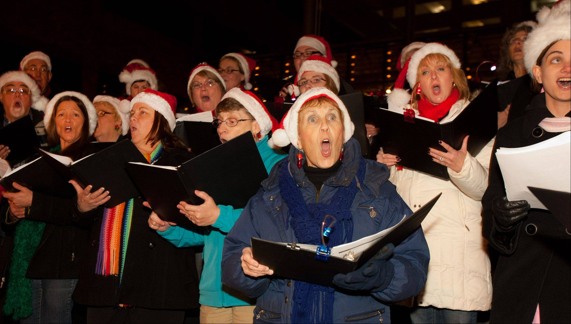 The Fox Valley Festival Chorus will help visitors to downtown Aurora greet the season with a performance on Nov. 22.