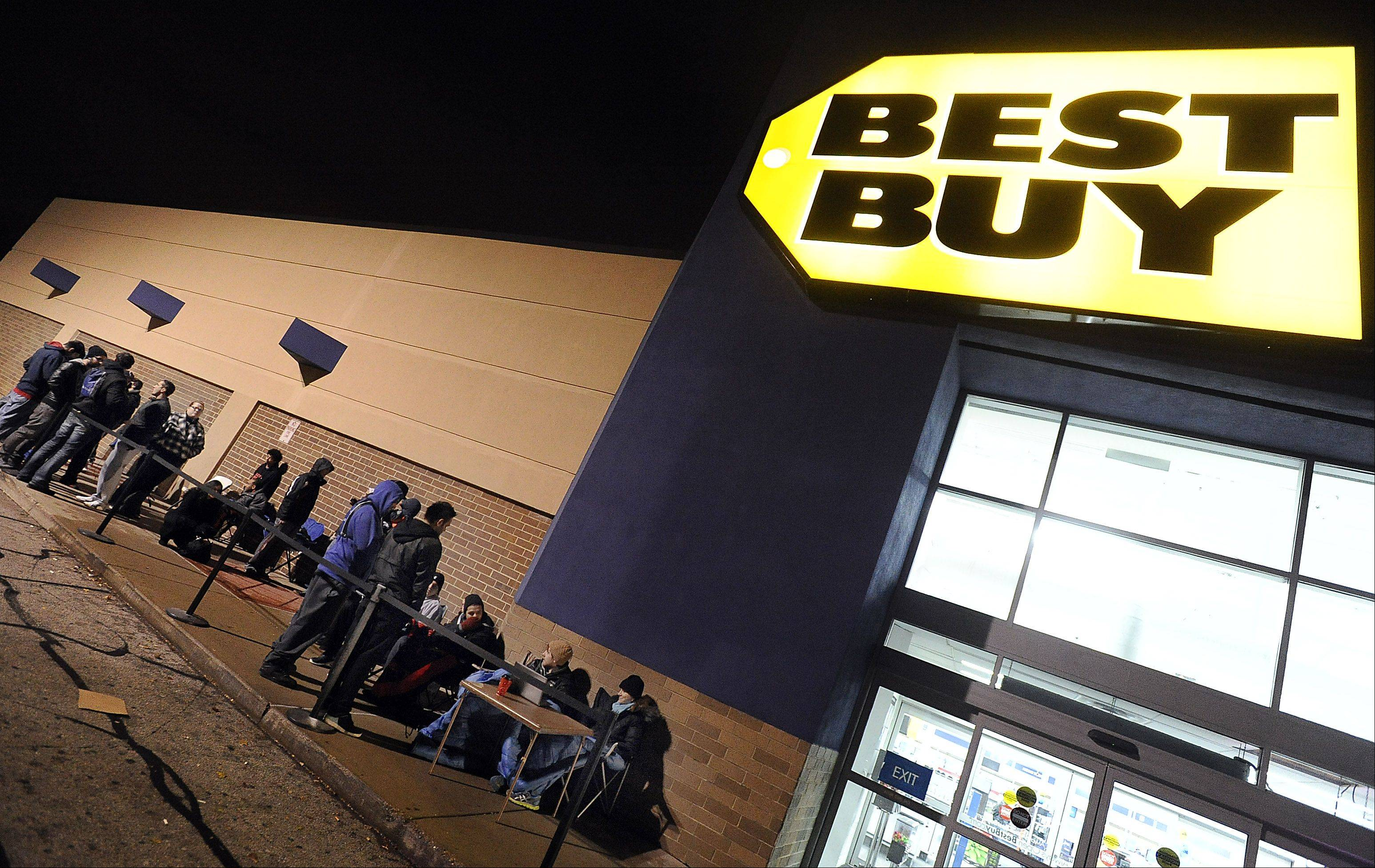 People began lining up Thursday at Best Buy in Arlington Heights for the new PS4, to be sold at midnight.