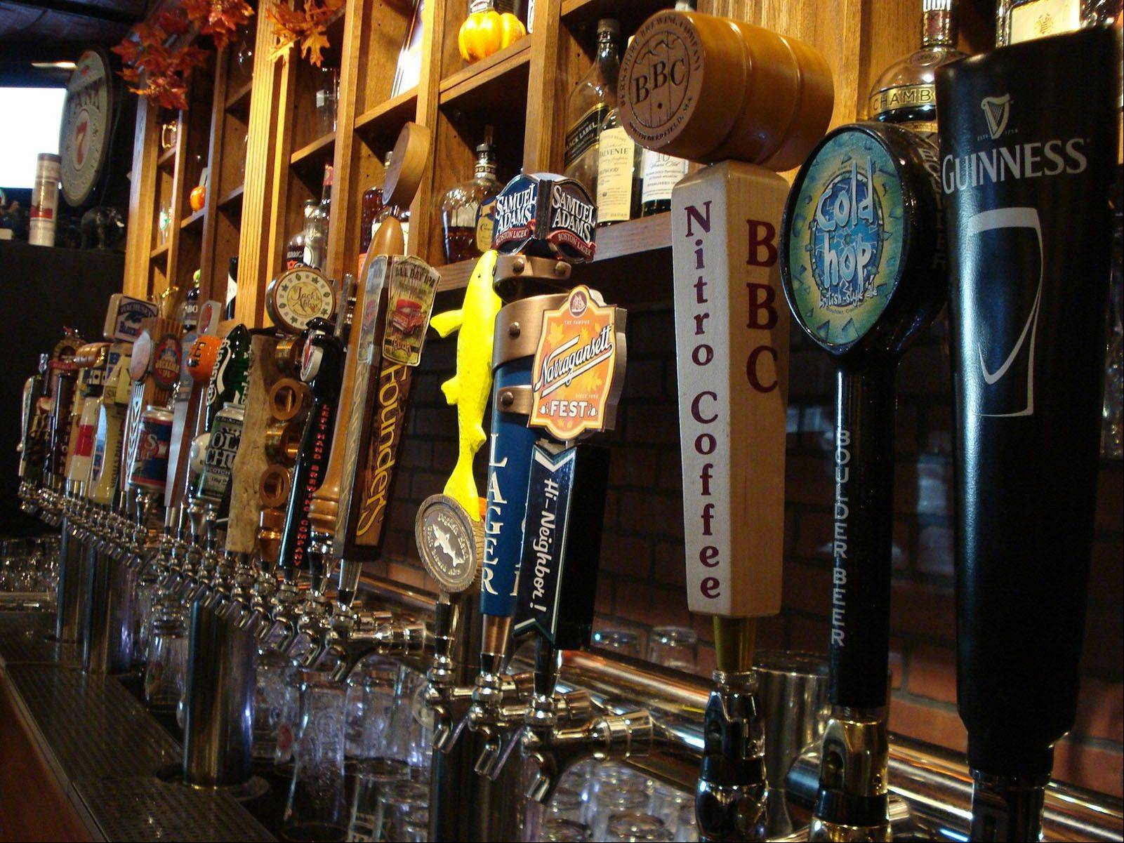 "Pilgrims to ""America's Hometown"" can choose from among 32 draft brews and another 120 bottled beers at The New World Tavern, a short walk from Plymouth Rock."