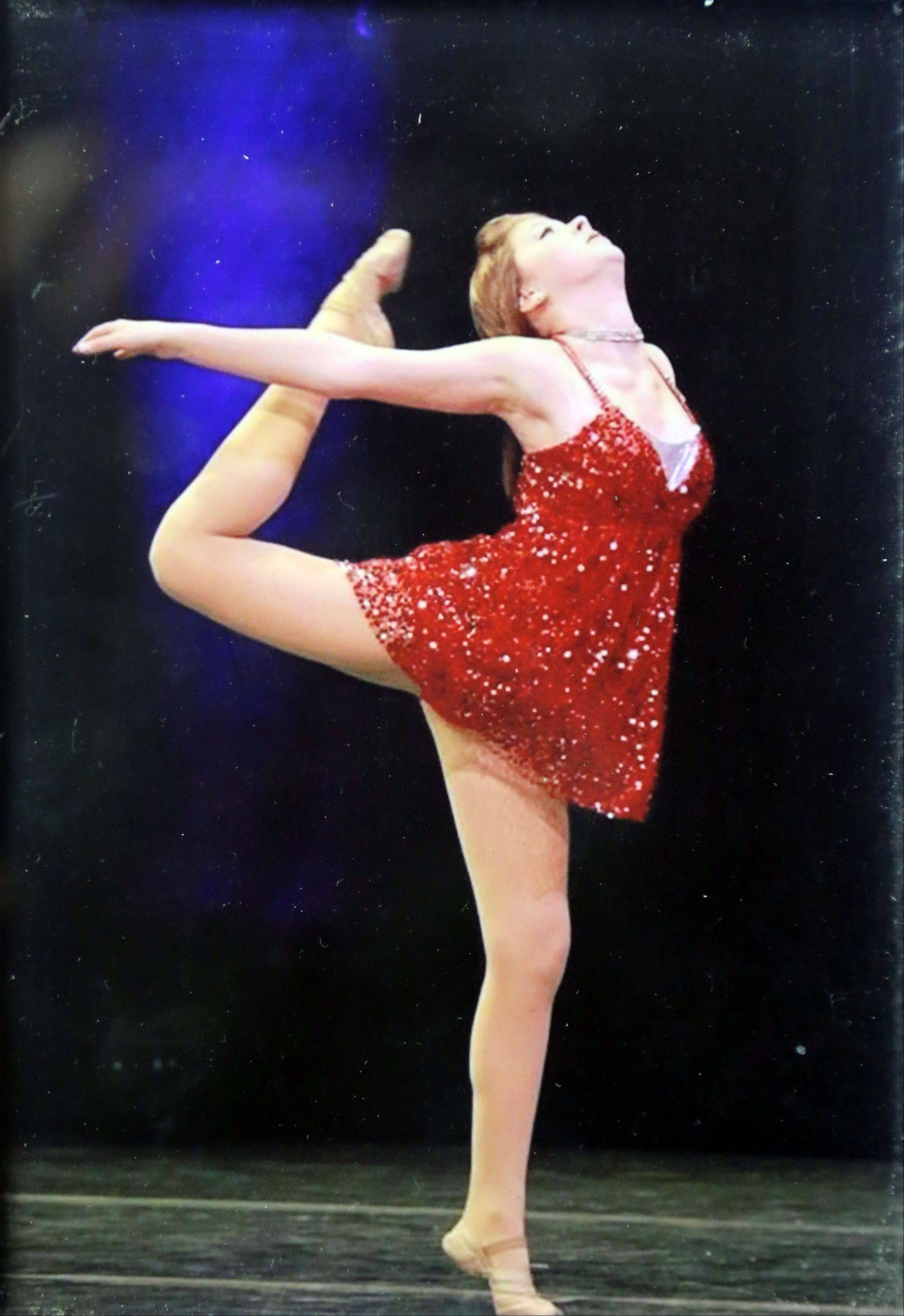 Nicole Parfitt at 11 years old in a dance competition in Milwaukee, Wis.