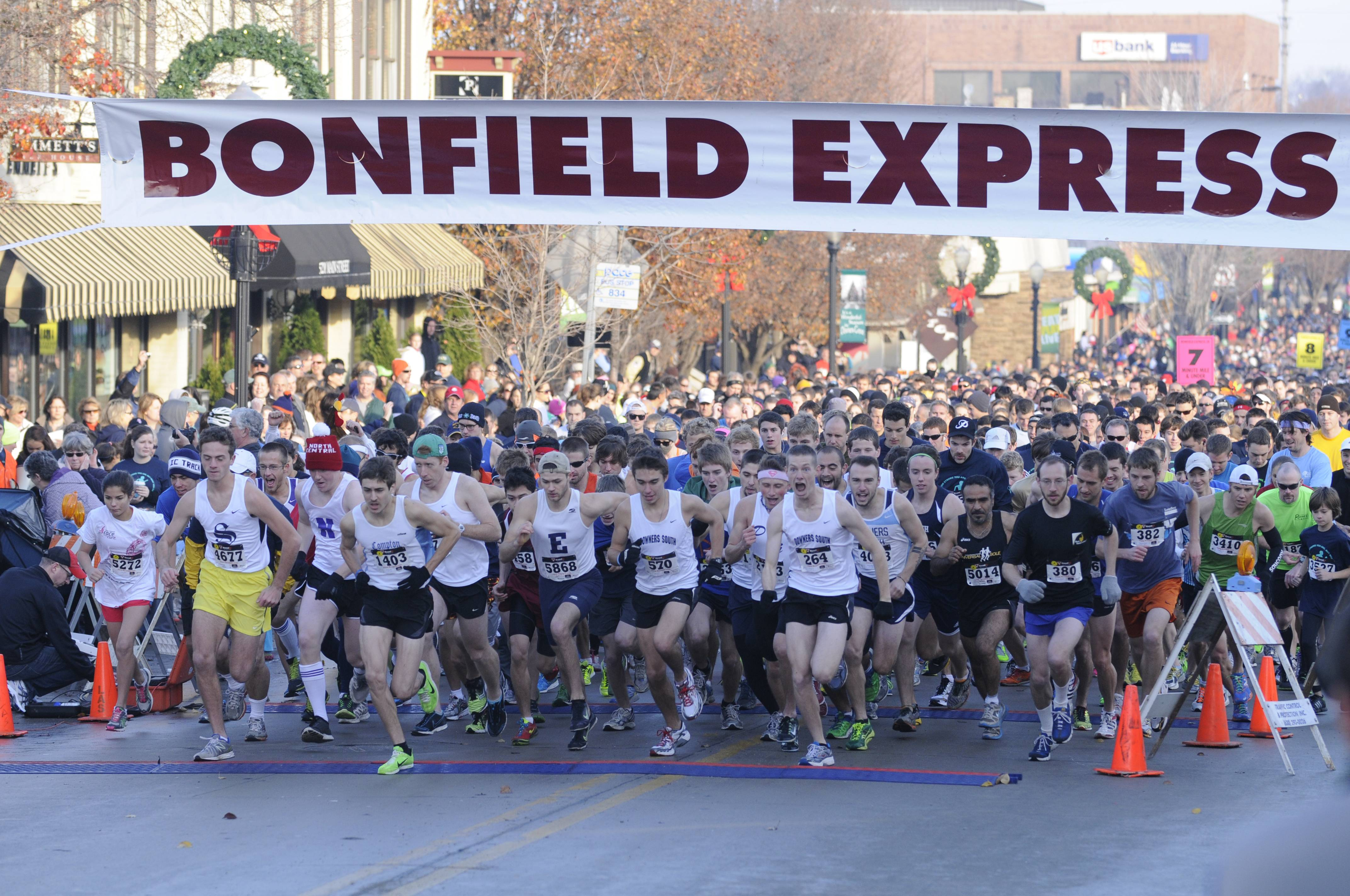 Start of the 2012 Bonfield Express 5K Run/Walk