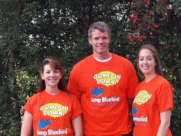 Accretive Health employees (from left to right): Lindsay Milchteim, John Mulcahy, and Julie Saucer recently volunteered at Camp Bluebird, an adult cancer retreat in Florida.