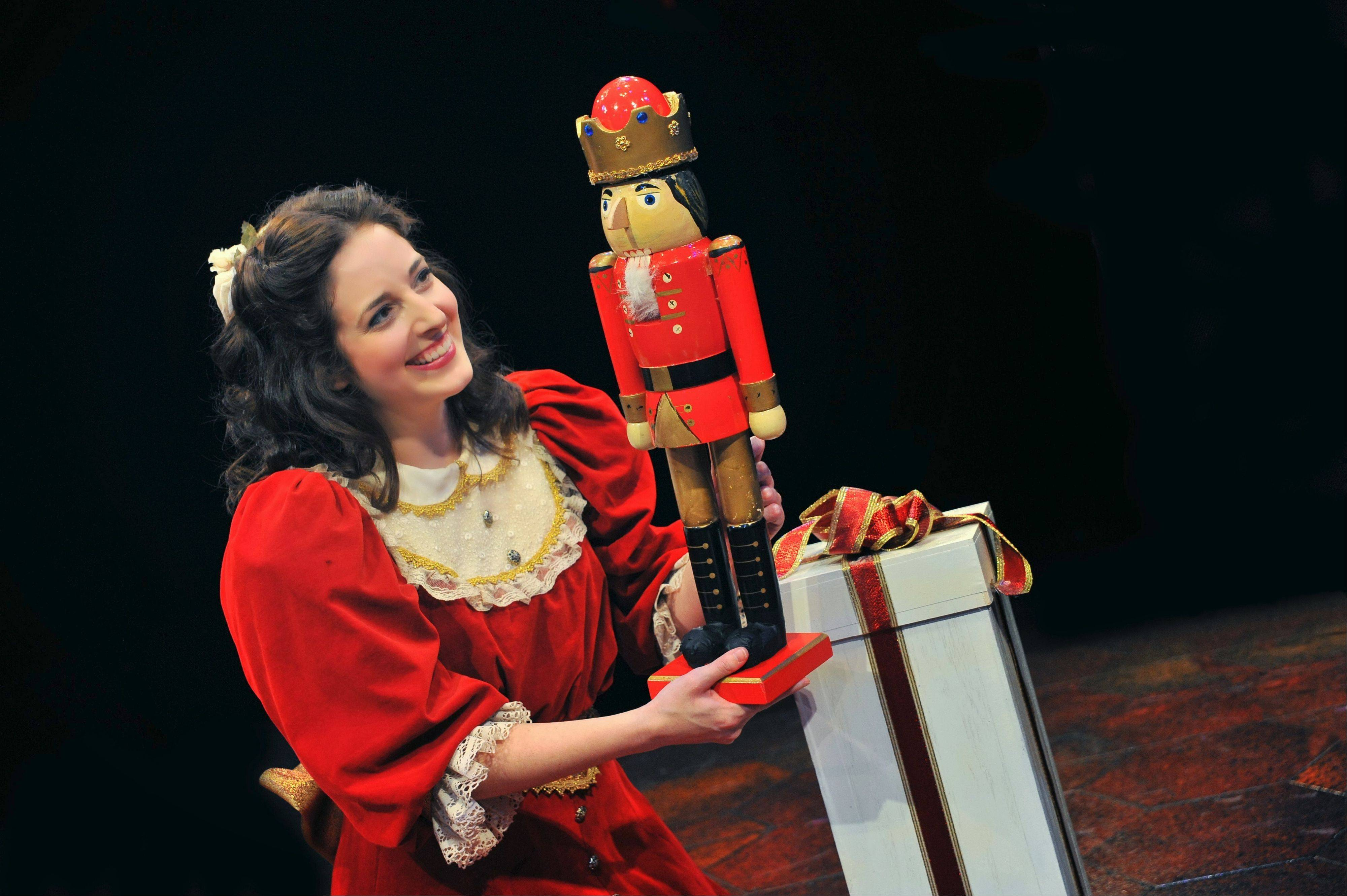 "Dara Cameron portrays the little girl Marie in Marriott Theatre's revival of Marc Robin's musical theater version of ""The Nutcracker."""
