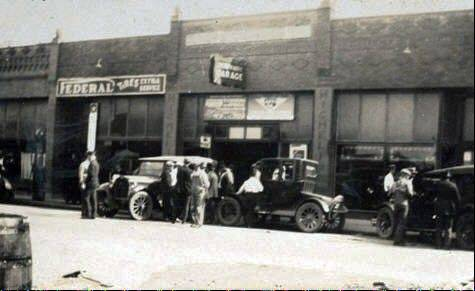 Smith's Garage in Herrin Illinois, in front of which six men were shot and killed in connection with the Herrin massacre.