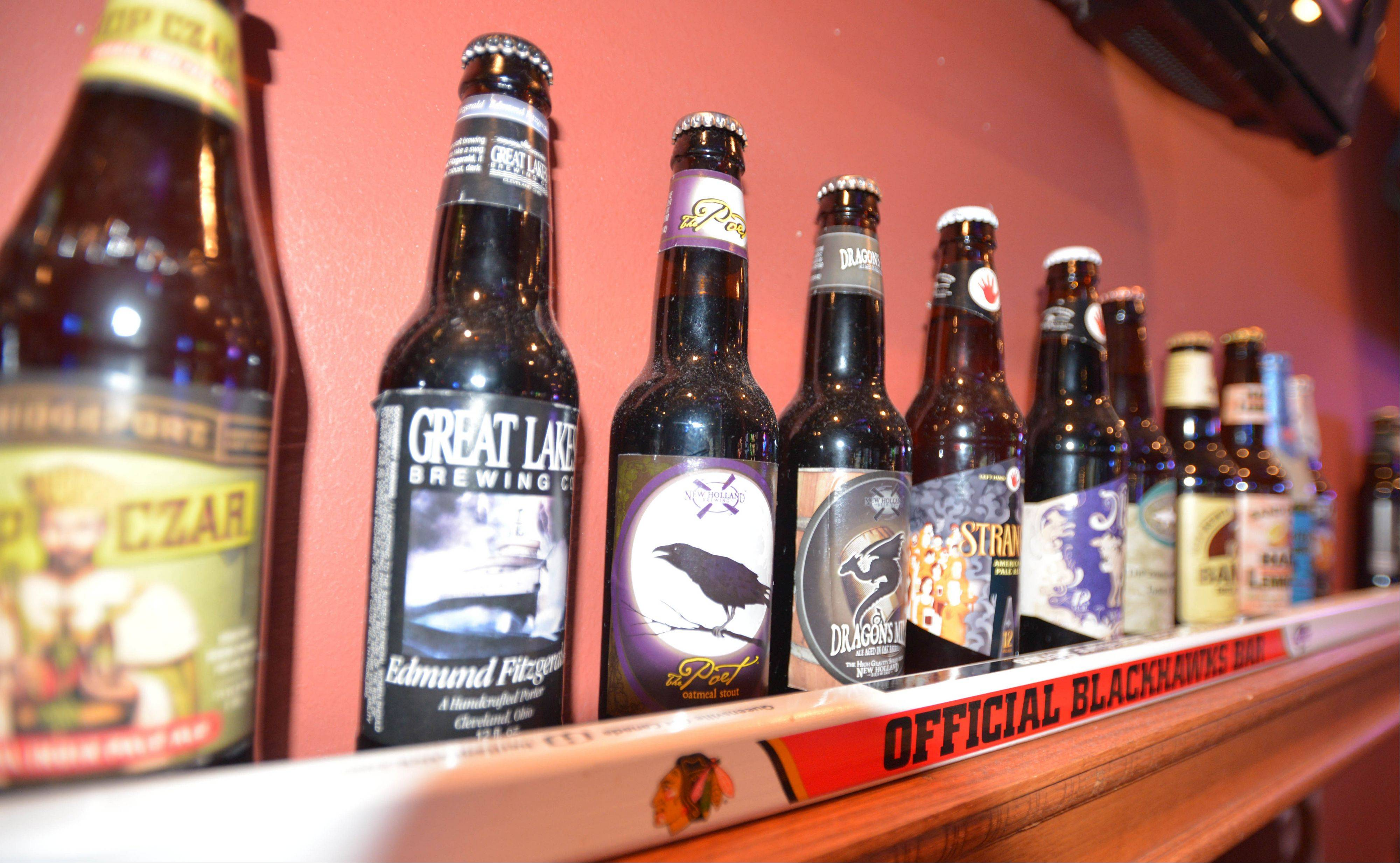 The Town Bar & Grill in Aurora offers more than 50 craft beers, with 20 on draft.