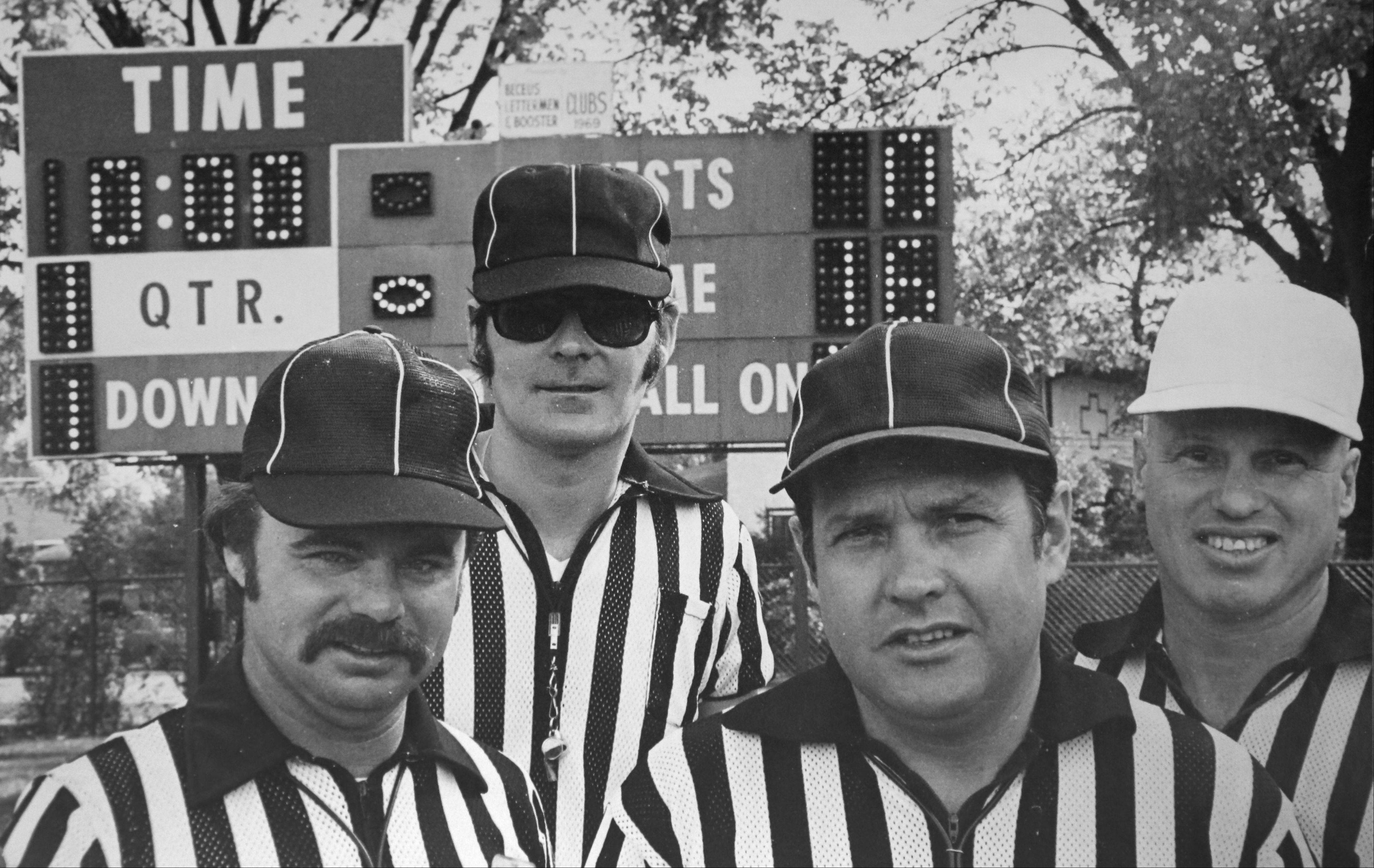 Harold Schwind, third from left, spent 31 years as a high-school football referee.