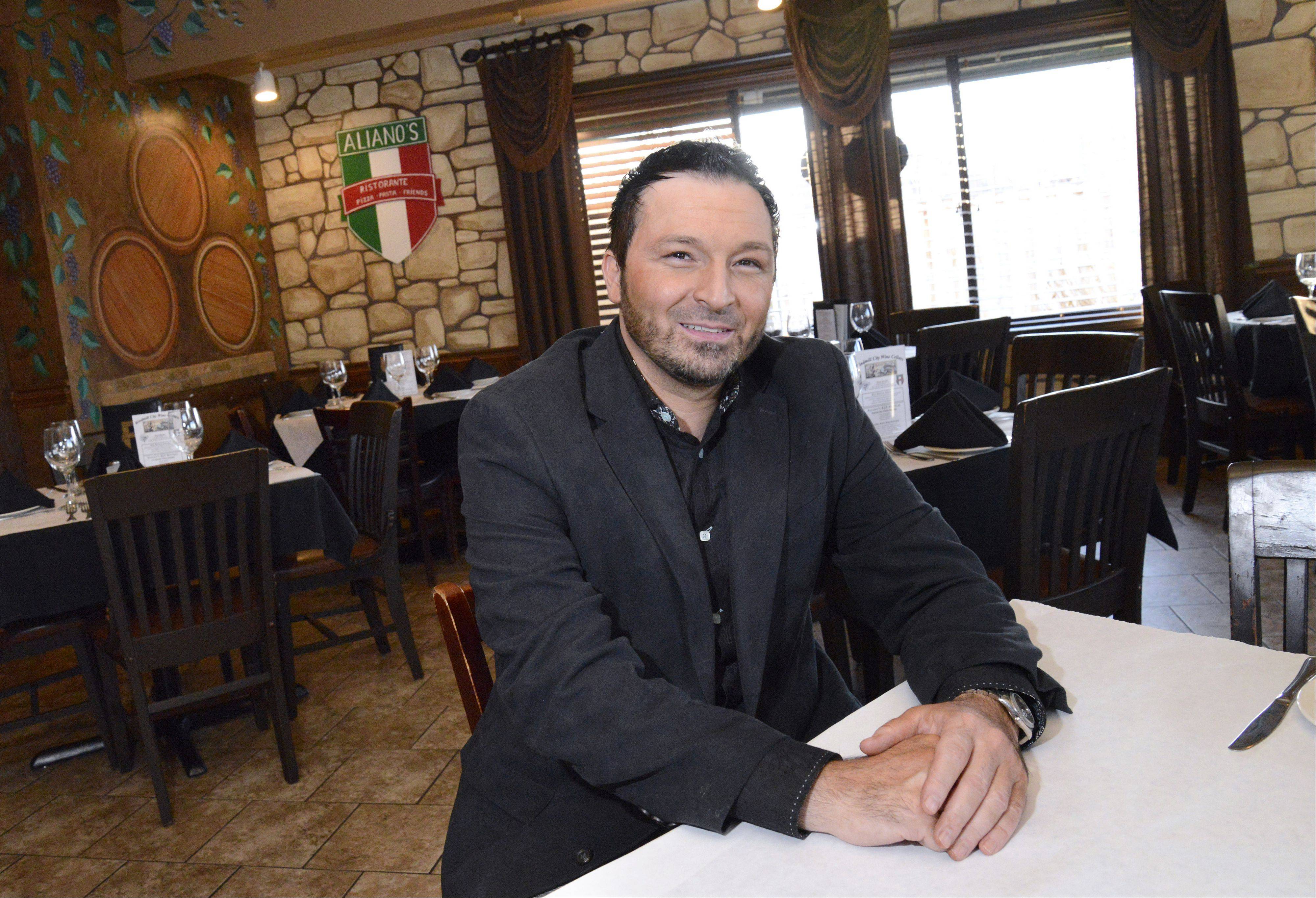 Mario Aliano, owner of Aliano's Ristorante in Batavia, is offering free meals to senior citizens from noon to 3 p.m. Thanksgiving Day. He said it's his way of saying thanks to the community that has supported the restaurant for the nearly two years it's been open.