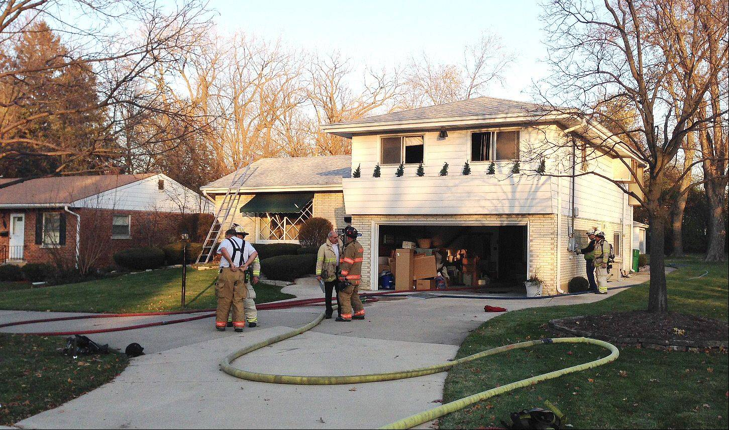 No injuries were reported Friday in a fire that forced a Lombard family from their home on the 200 block of Main Street.
