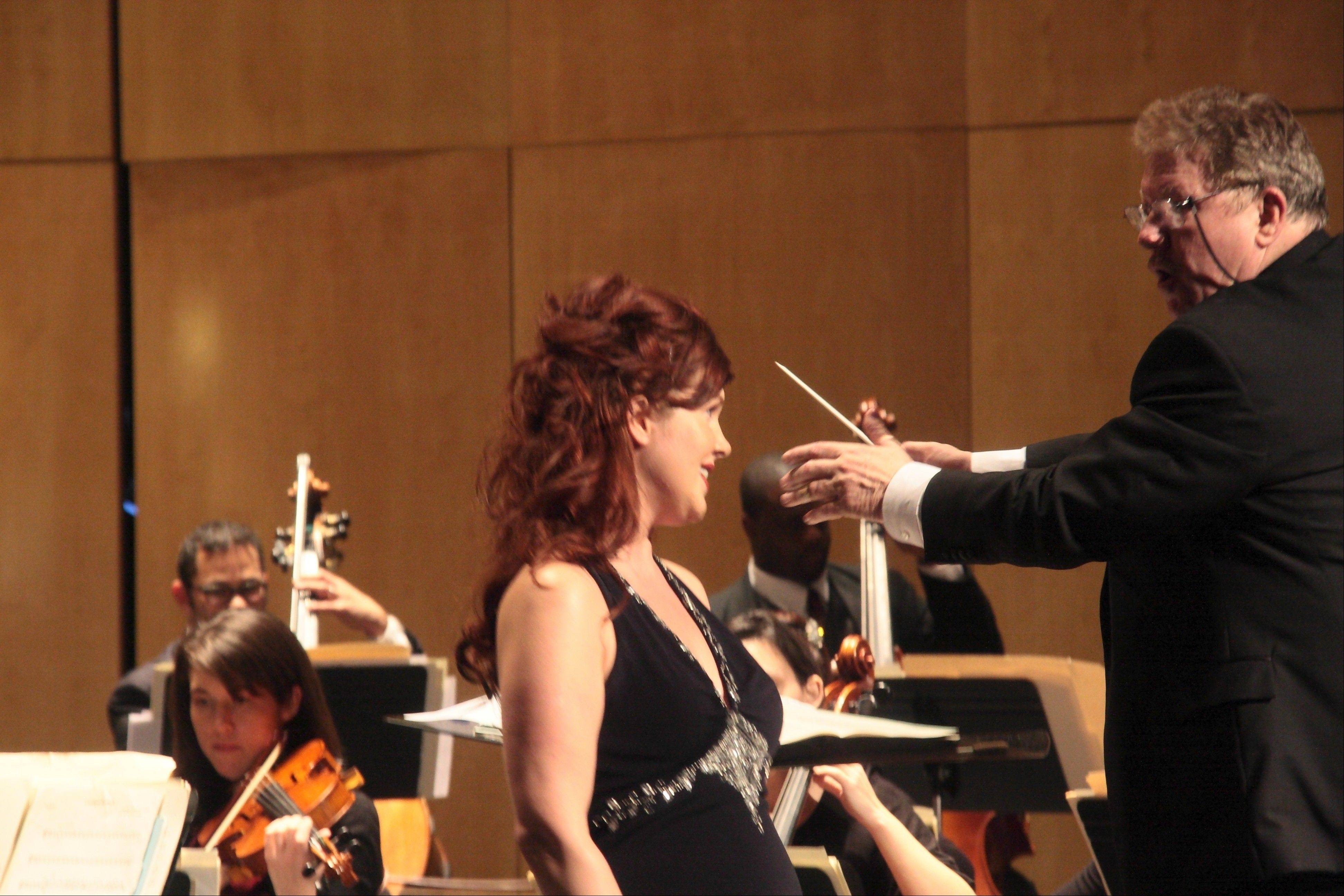 Lindsey Poling performs with the Northwest Festival Orchestra in December 2011 under the direction of Dr. Verne Schwager.