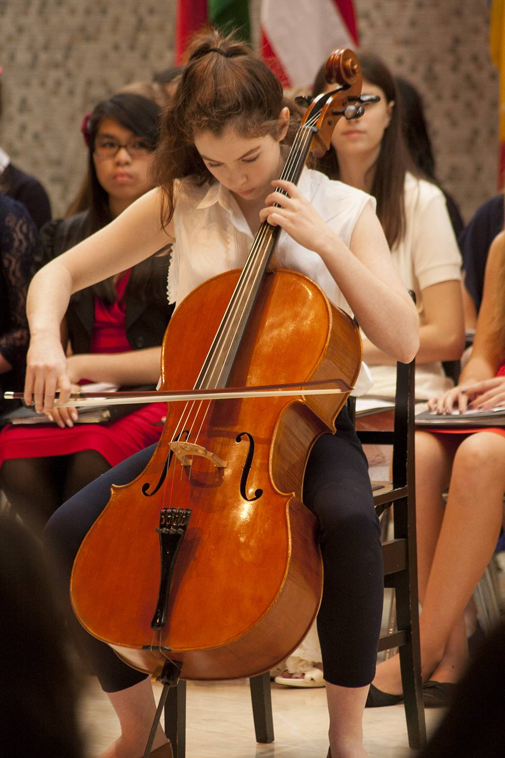 Sophomore Willa Hart of Winnetka will perform a cello solo during the Woodlands Academy Symphonic Orchestra's rendition of Stille Nacht  by Mannheim Steamroller during the high school's annual Christmas Concert Thursday, Dec. 5, at 7 p.m.