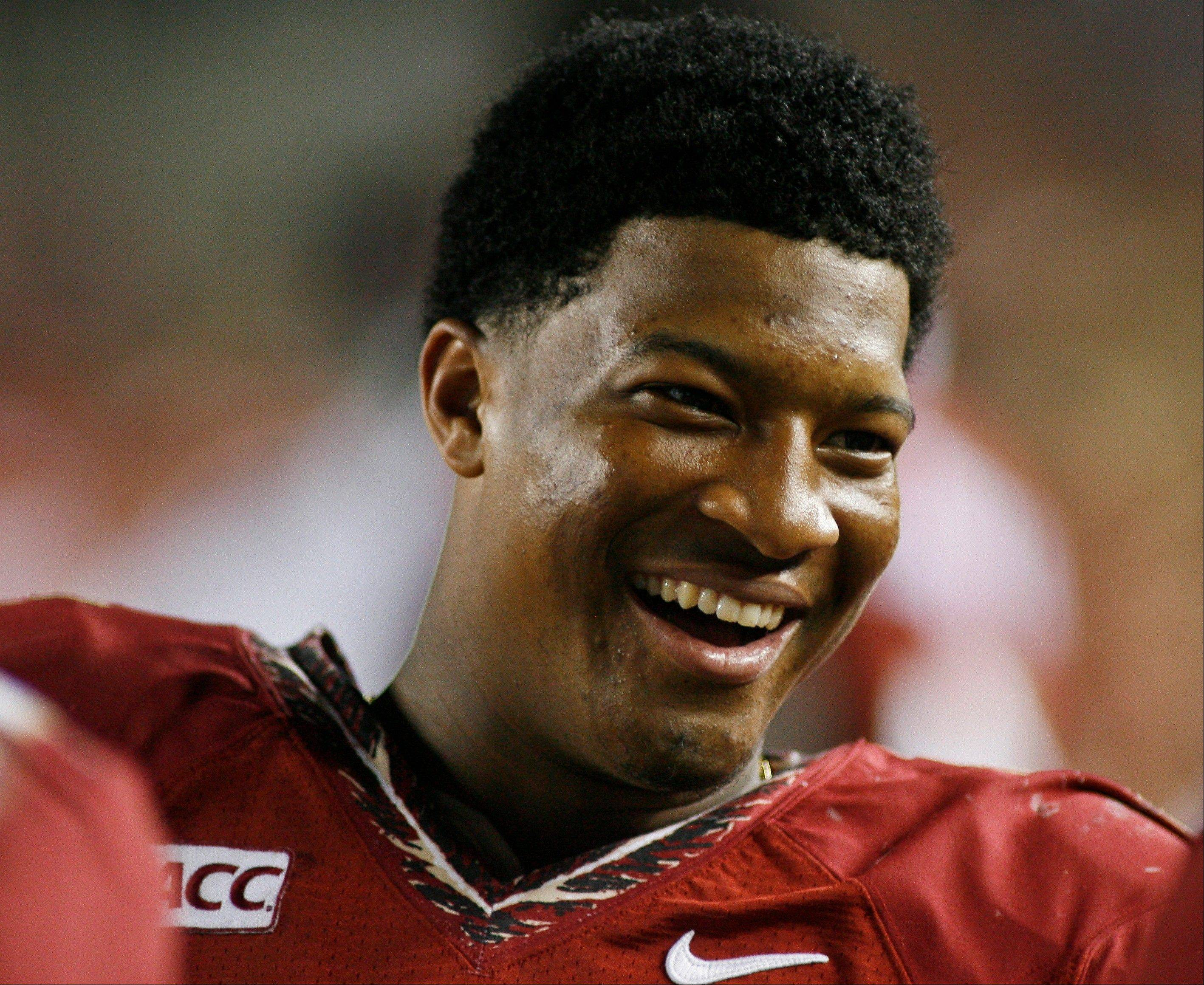 Florida State quarterback Jameis Winston on the sidelines during the game against Syracuse Saturday in Tallahassee.