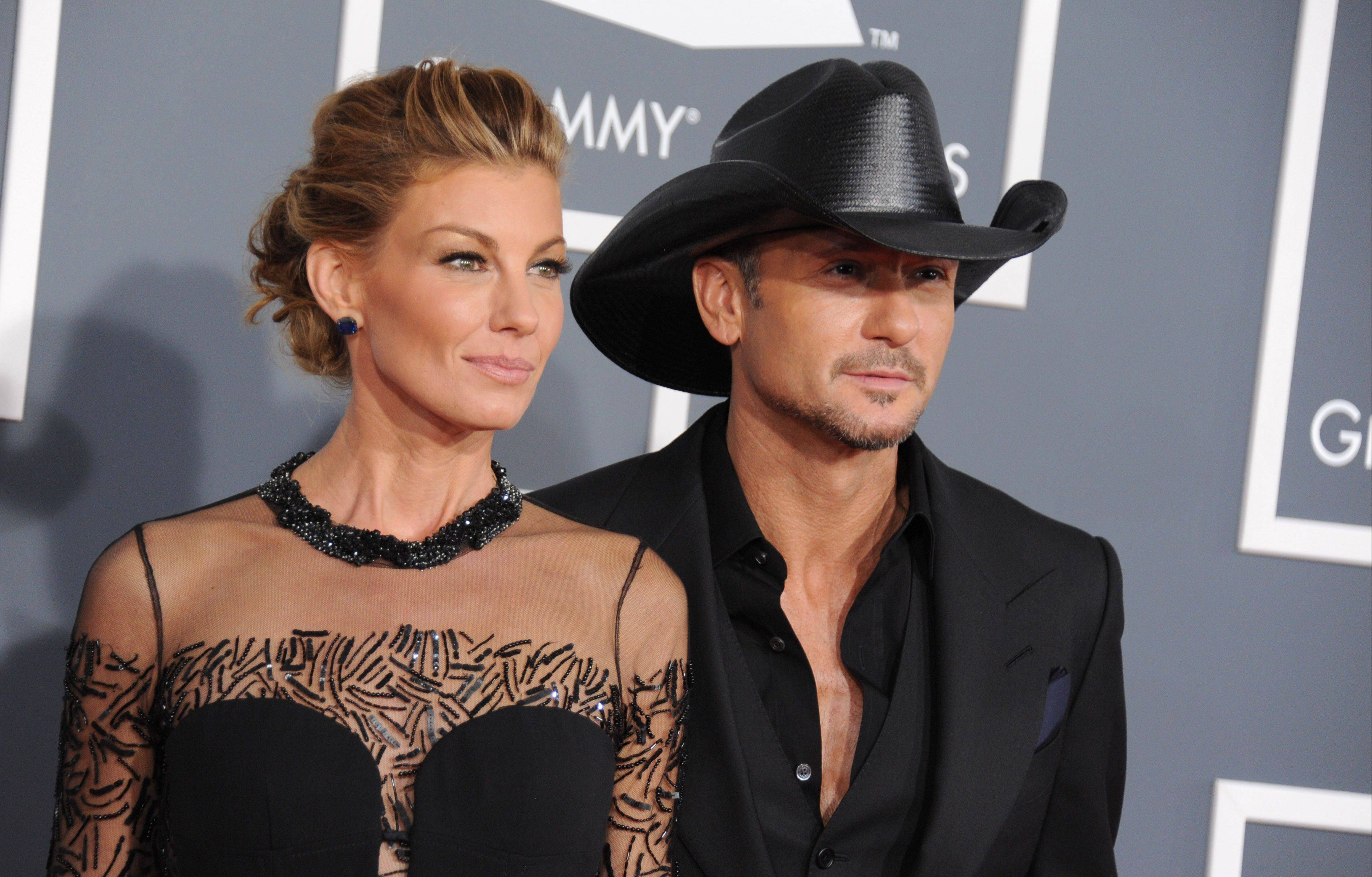 "Faith Hill, left, and Tim McGraw, seen here at the Grammy Awards in February, are in the midst of their second Soul2Soul resident tour in Las Vegas. The couple say the Vegas show is a chance to ""catch your breath"" compared with the regular touring, which McGraw is set to begin this summer."