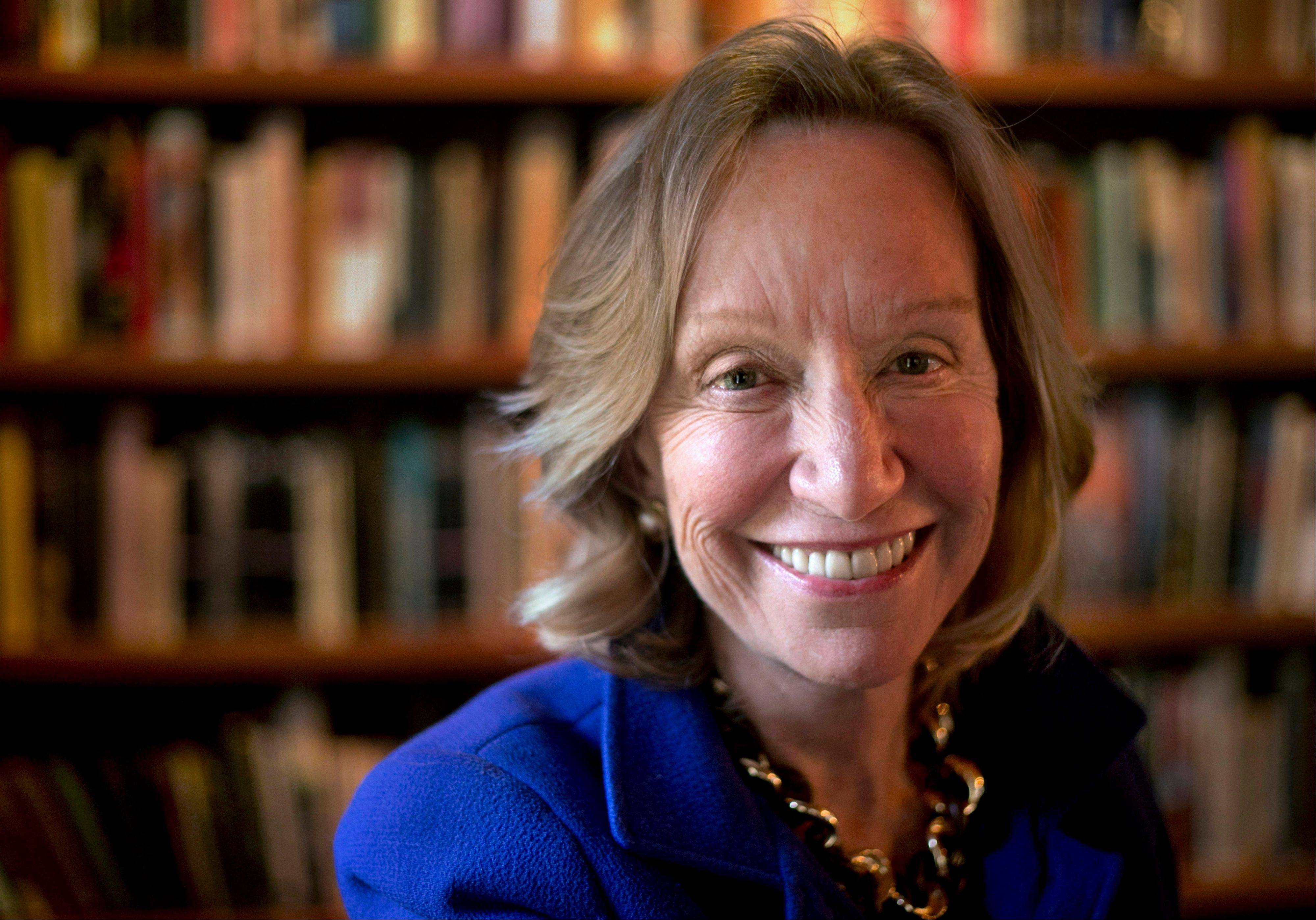 "Author Doris Kearns Goodwin speaks about her new book, ""The Bully Pulpit,"" at the Harold Washington Library Center Winter Garden in Chicago."