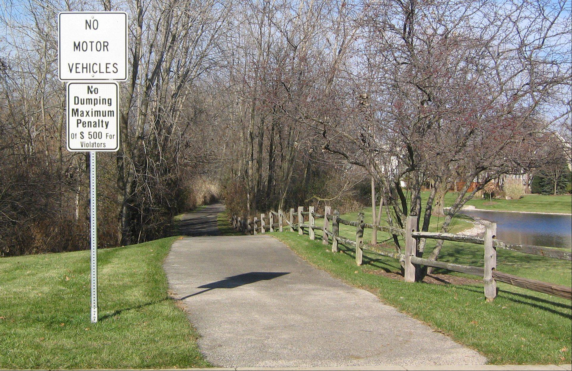 Libertyville Township will explore the possibility of connecting this village-owned path in the Timber Creek subdivision to its Casey Trail to the north.