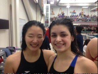 Fremd's Saki Takumiya, left, and Grace Grzybek.