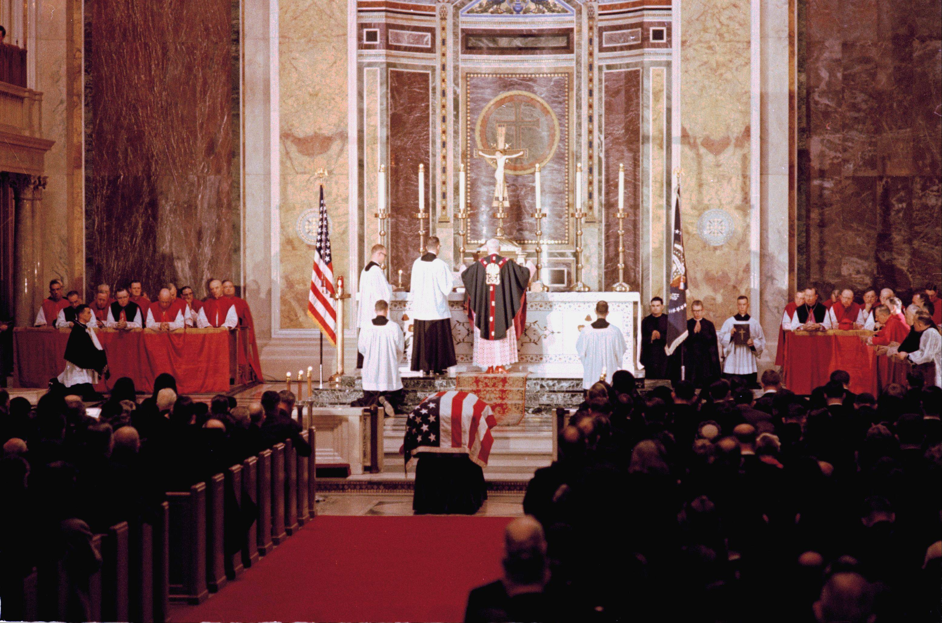 This is a general view inside St. Matthew's Cathedral in Washington, during funeral Mass for President John F. Kennedy, Nov. 25, 1963.