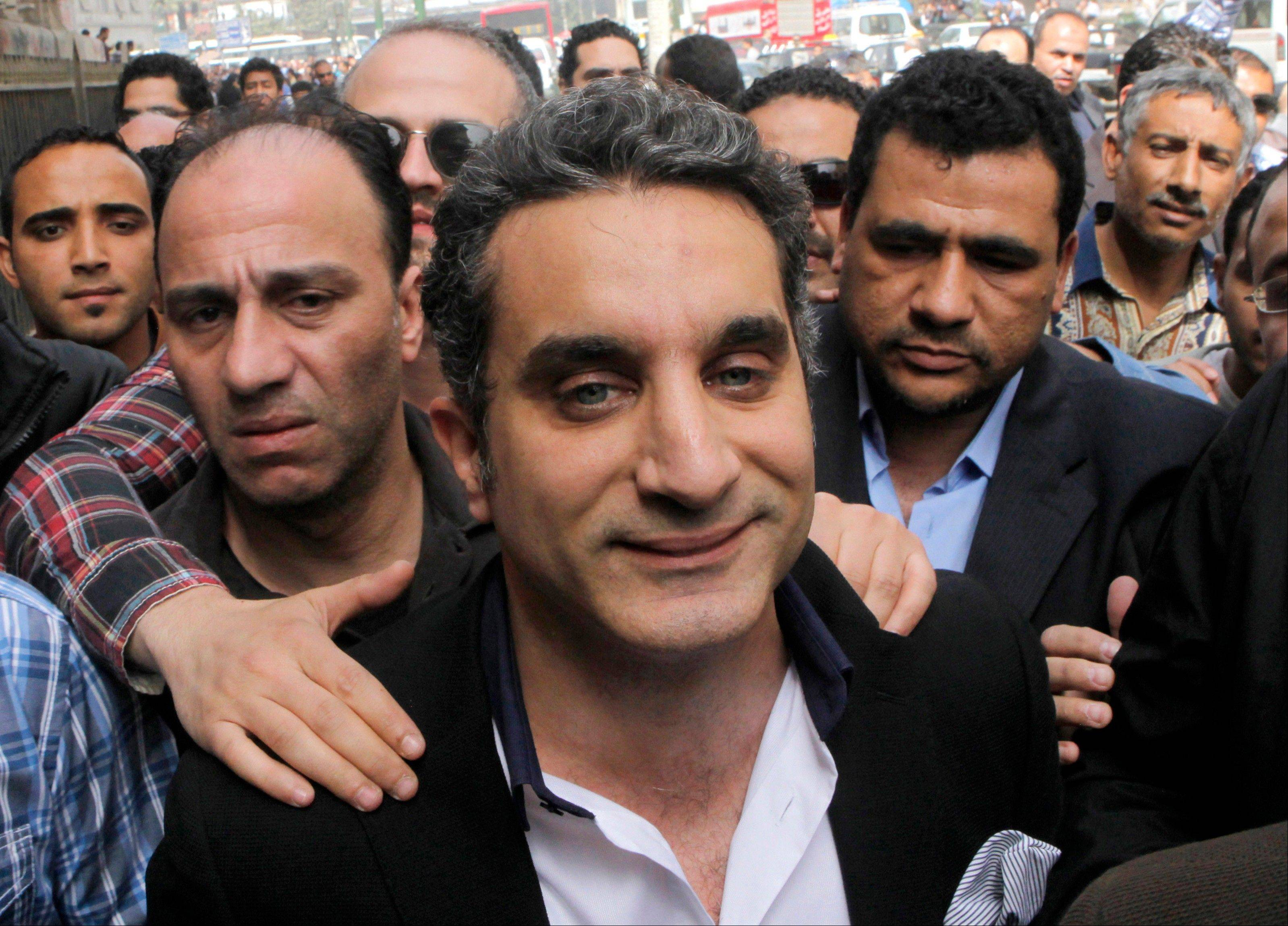 Egyptian television satirist Bassem Youssef has come to be known as Egypt's Jon Stewart.