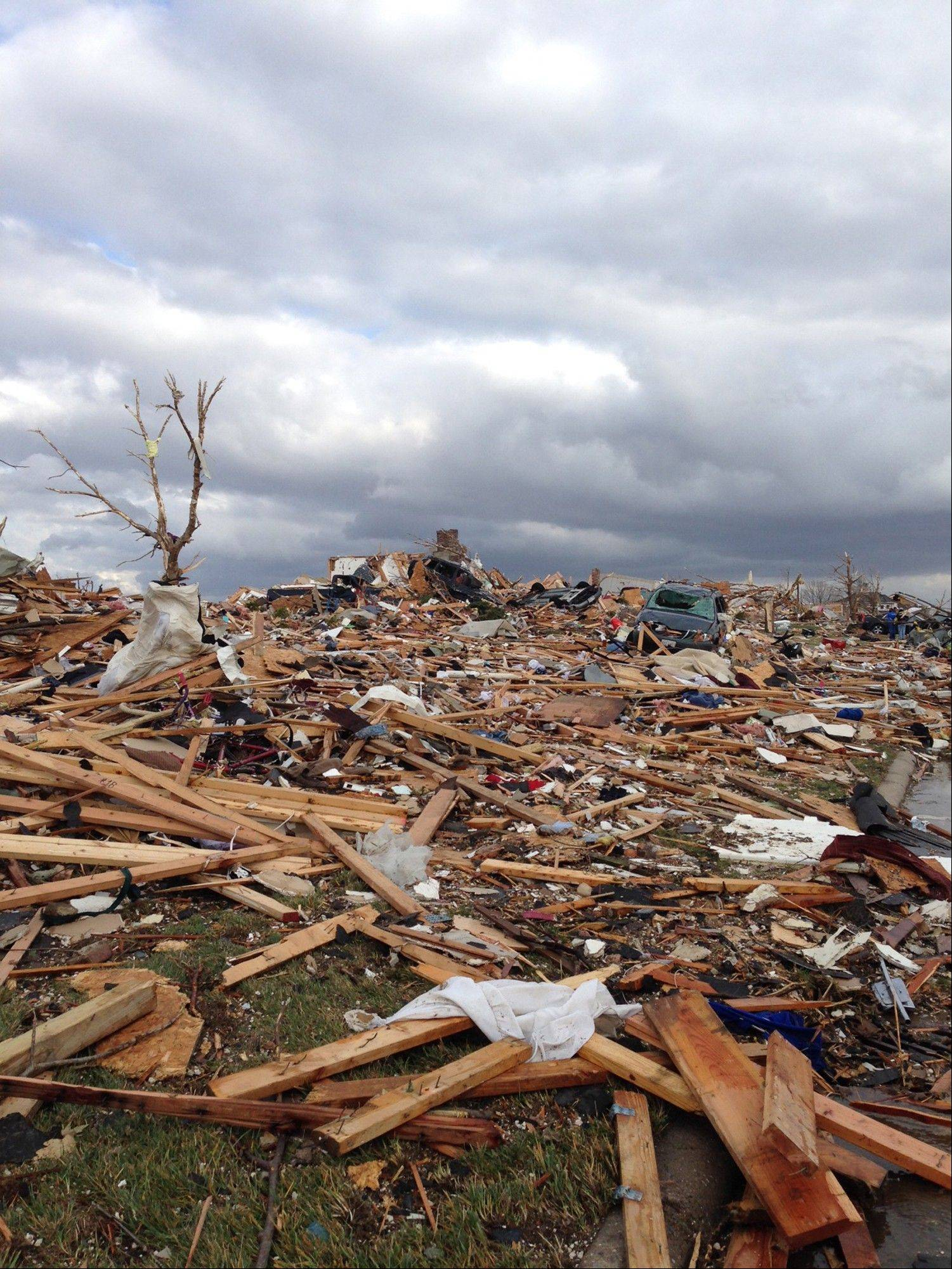 A tornado swept through Washington, Ill., Sunday.