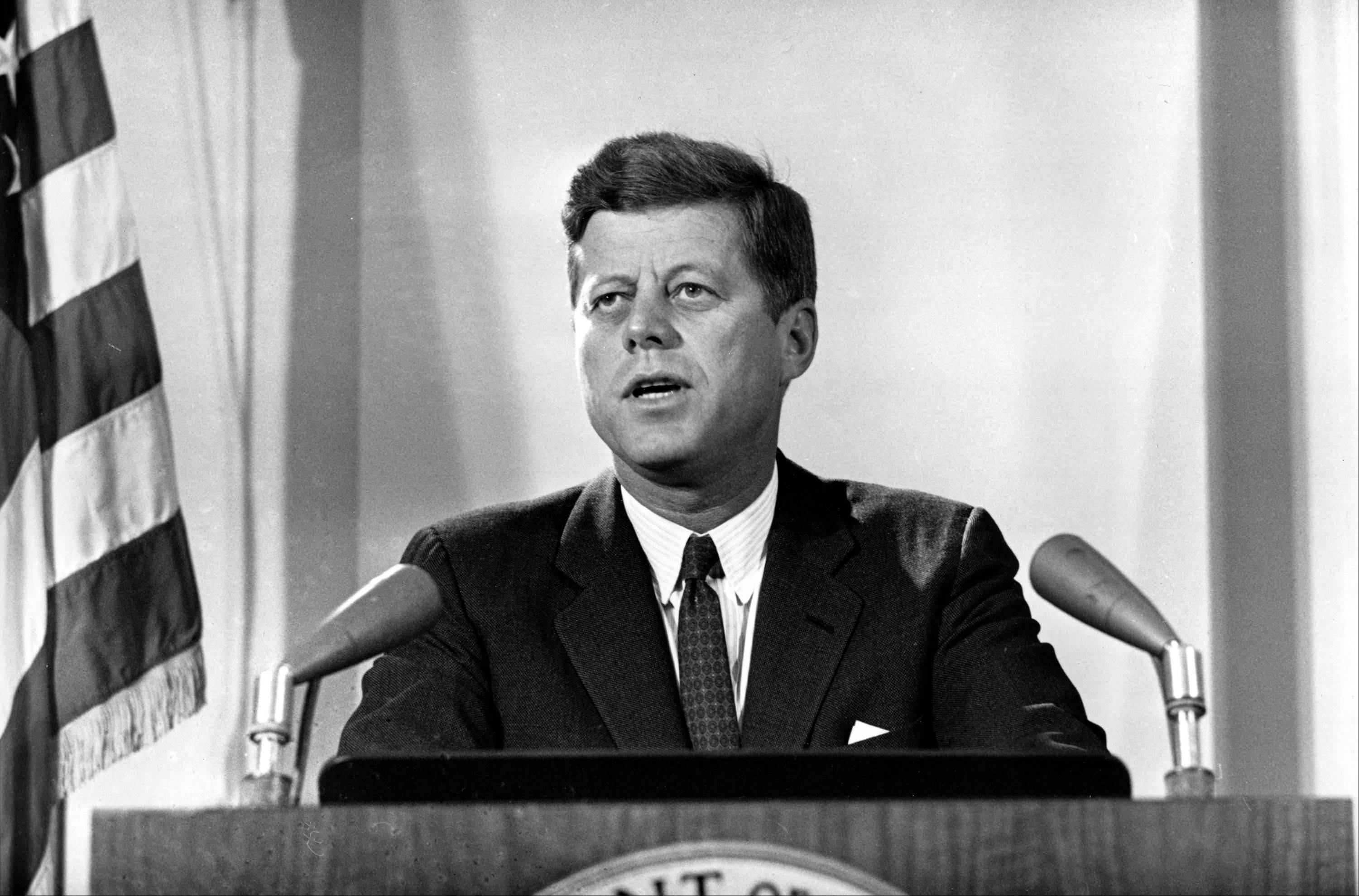 U.S. President John F. Kennedy reports to the nation on the status of the Cuban missile crisis from Washington, D.C., on Nov. 2, 1962.