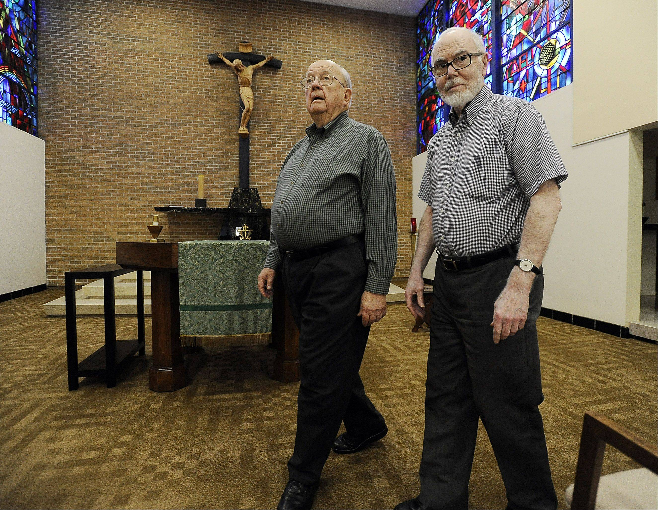 The Rev. John Milton, 84, and the Rev. Jim Michaletz, 82, both of the Clerics of St. Viator, were teaching at St. Viator High School in Arlington Heights at the time of John F. Kennedy's assassination 50 years ago. They remember sitting in stunned silence with their classes as they listened to the radio for updates on what had happened.
