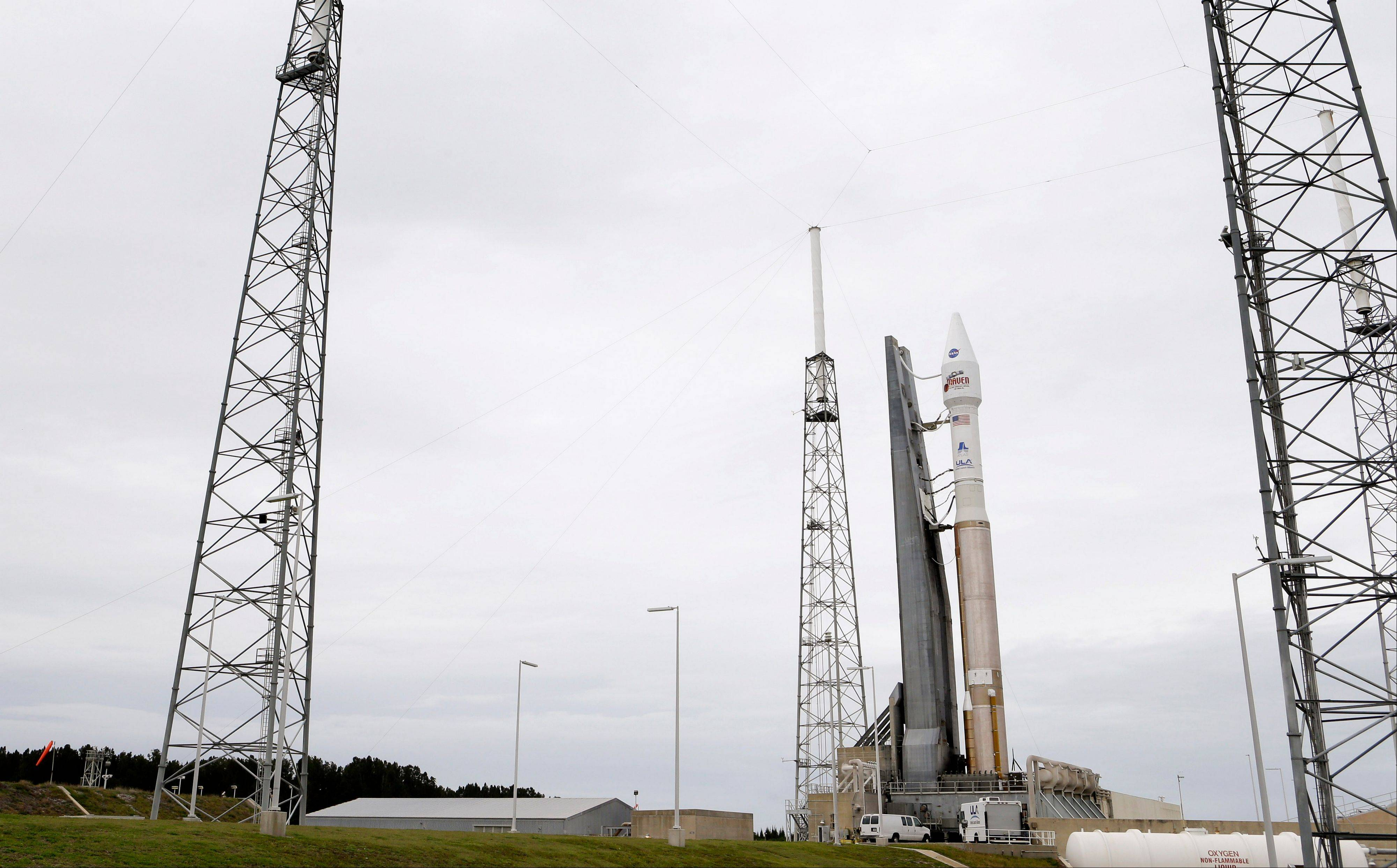 NASA's Mars Atmosphere and Volatile Evolution probe, MAVEN, is set to launch atop a United Launch Alliance Atlas 5 rocket from Cape Canaveral Air Force Station on Monday.