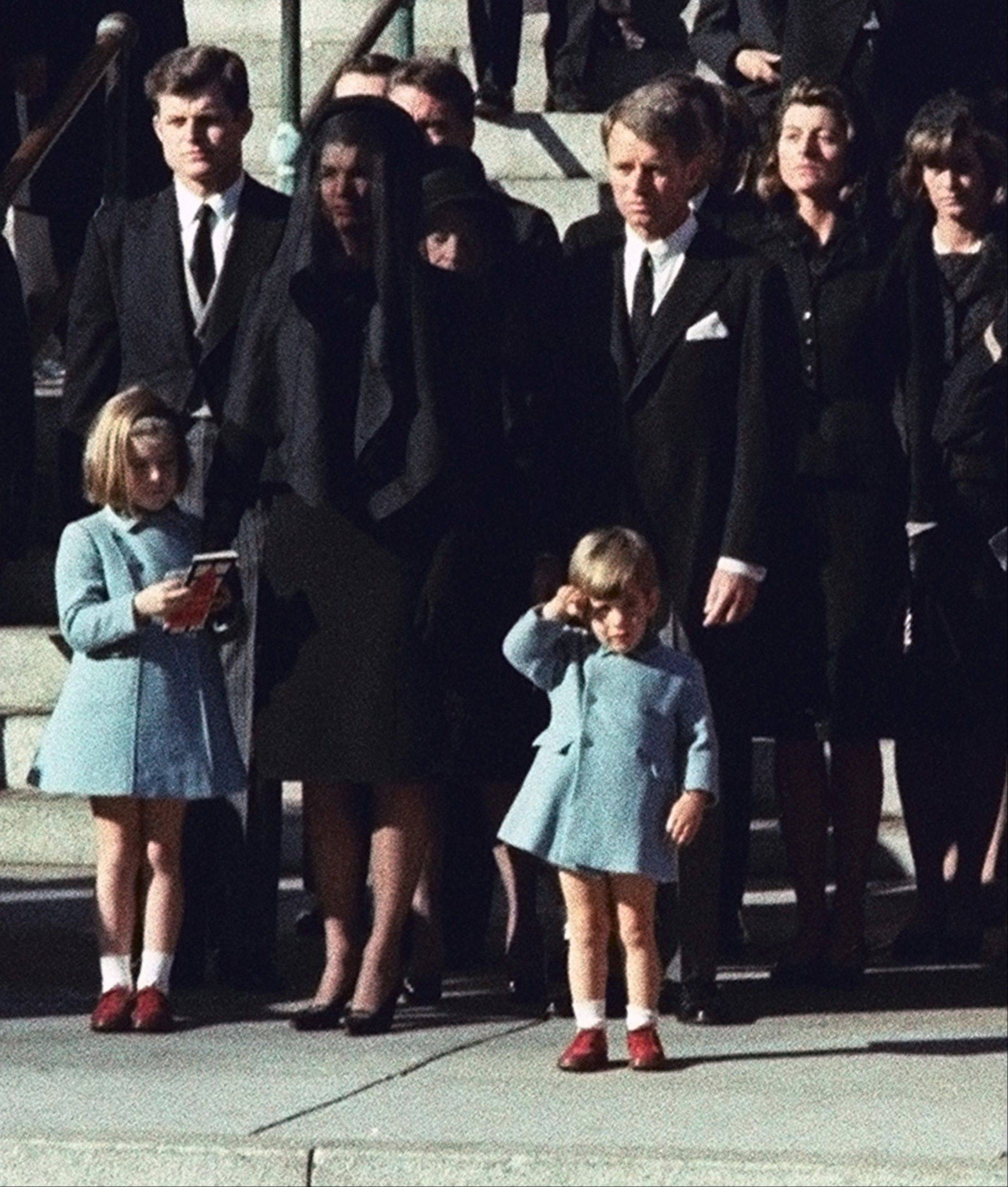 Three-year-old John F. Kennedy Jr. salutes his father's casket in Washington, three days after the president was assassinated.