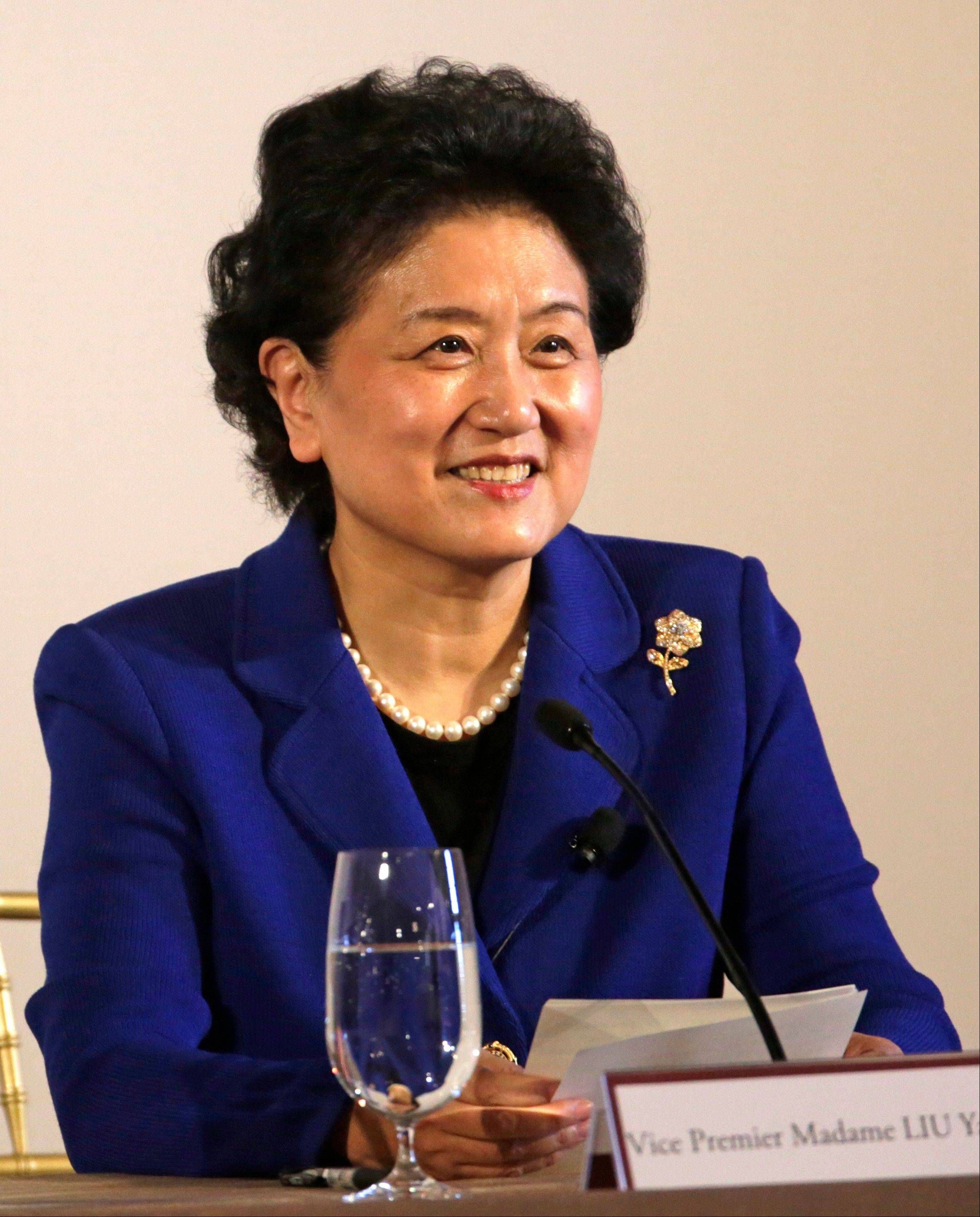 Vice Premier Liu Yandong of China says the exchange of students and teachers between the U.S. and China can lead to solutions for such global challenges as security, climate change and poverty.