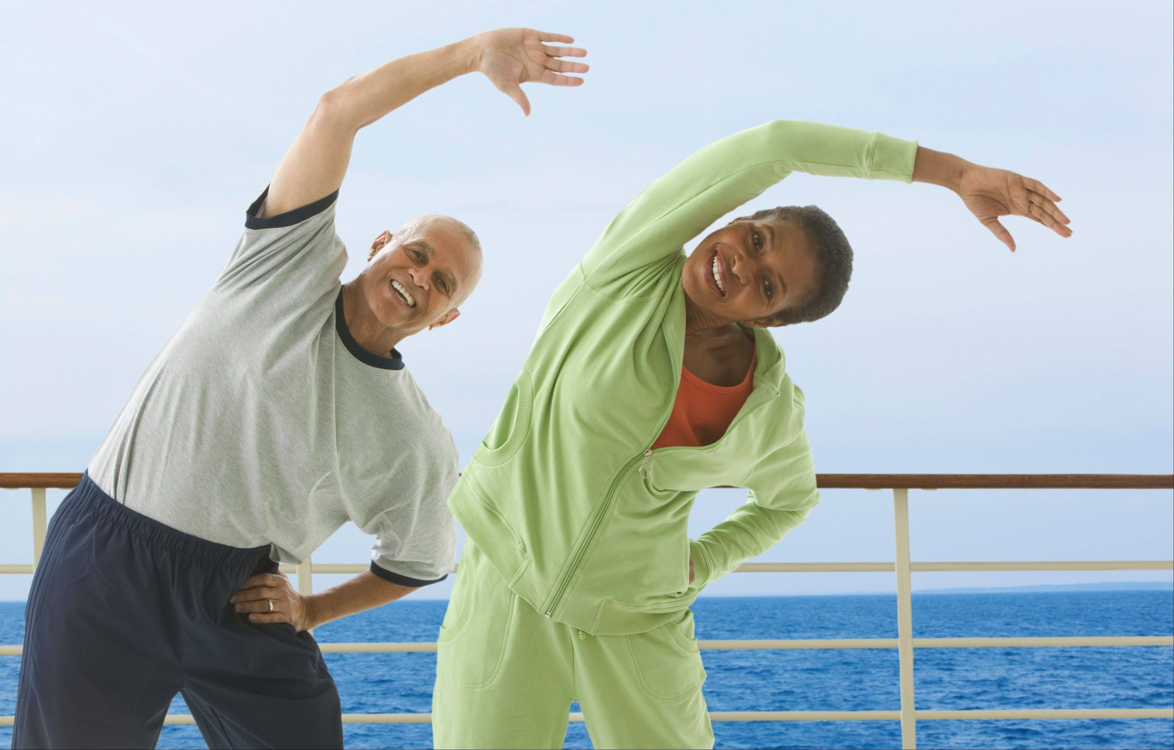 Familiarize yourself with the ship's exercise options in order stay fit while cruising.