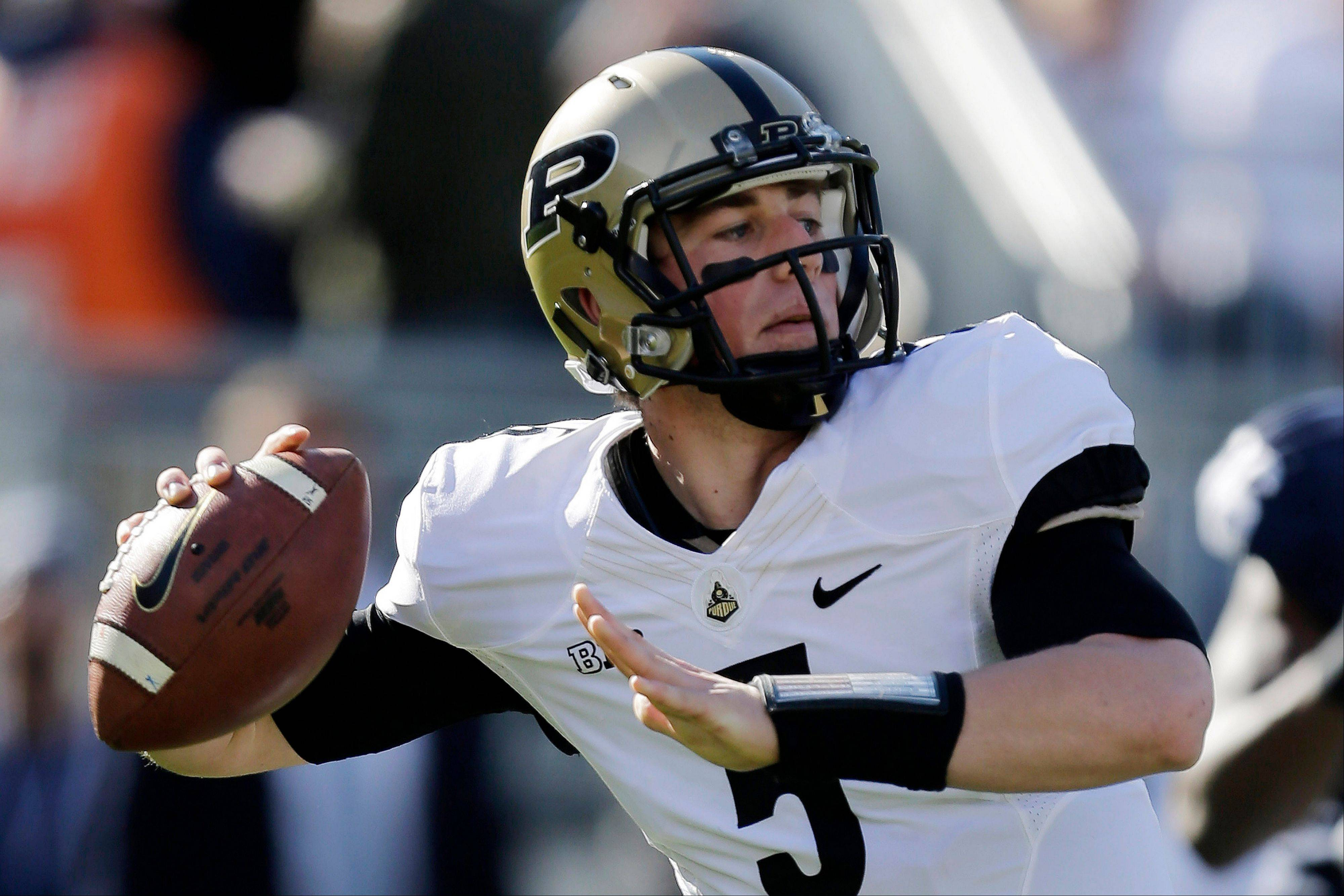 Purdue quarterback Danny Etling passes during the first quarter of last Saturday's loss to Penn State in State College, Pa. The Boilermakers gained 223 yards through the air.
