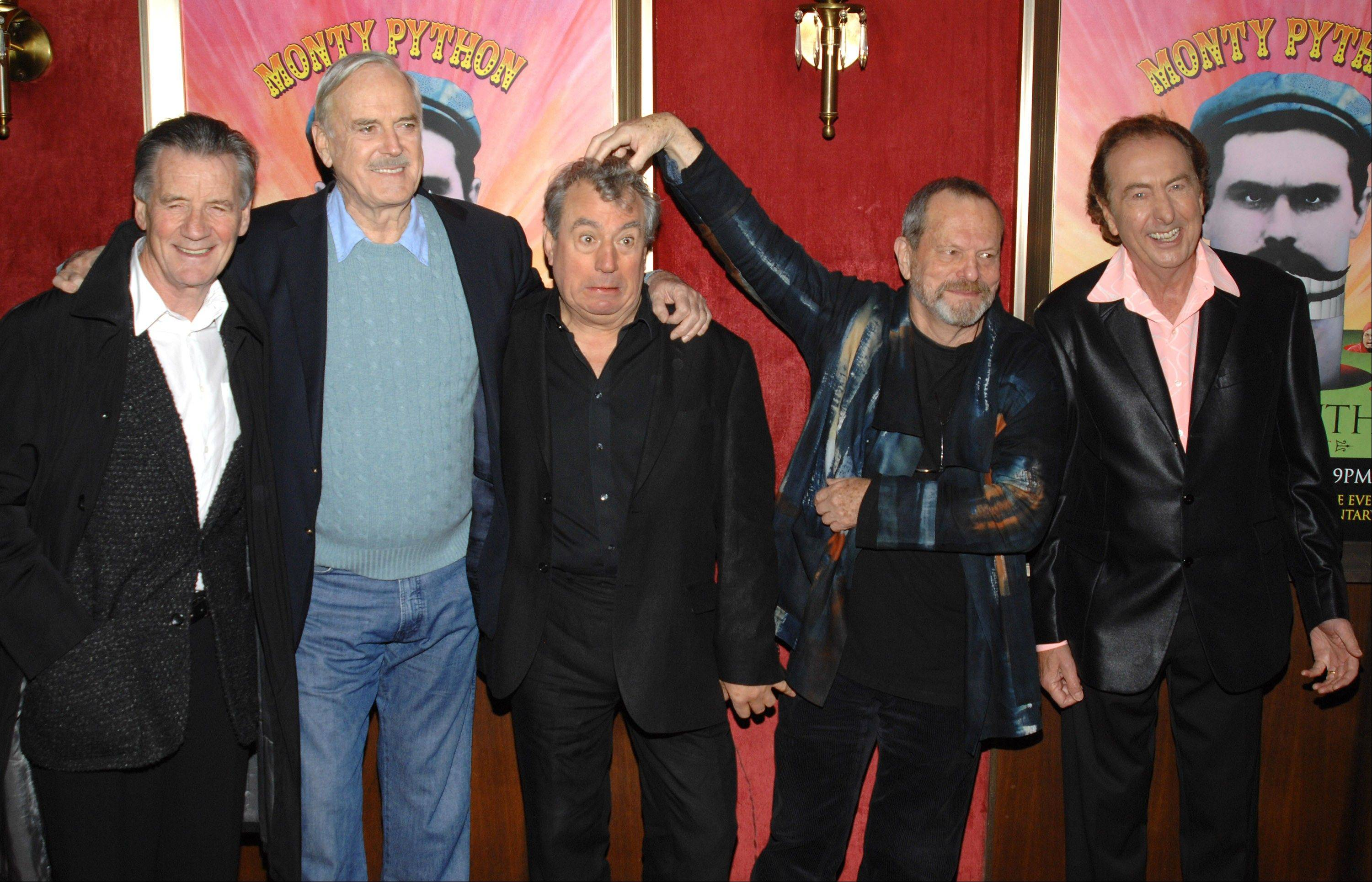 Monty Python actors Michael Palin, John Cleese, Terry Jones, Terry Gilliam and Eric Idle are set to reunite for a stage show.