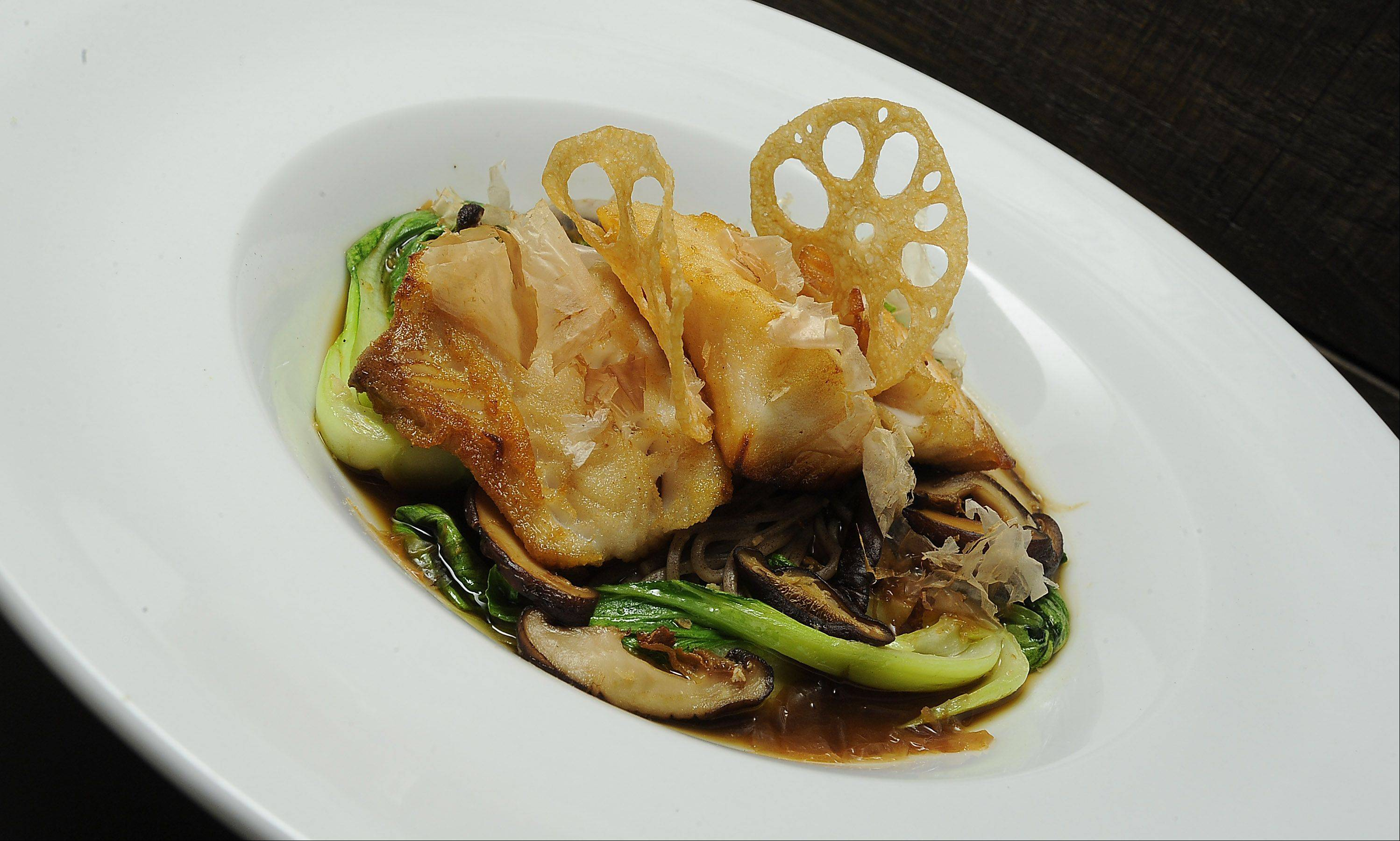 Prasino serves black cod in an Asian-accented broth.