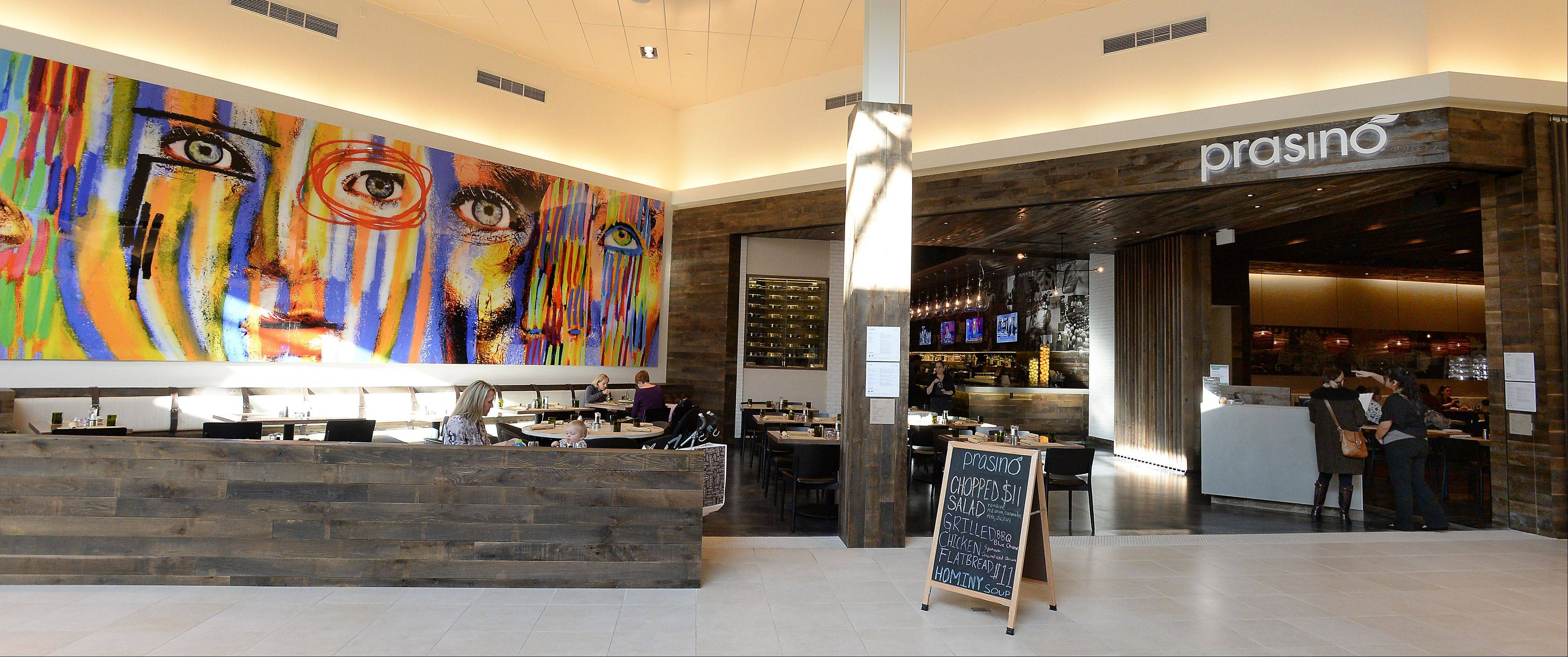 Prasino offers a culinary oasis for shoppers at Rosemont's Fashion Outlet Mall.