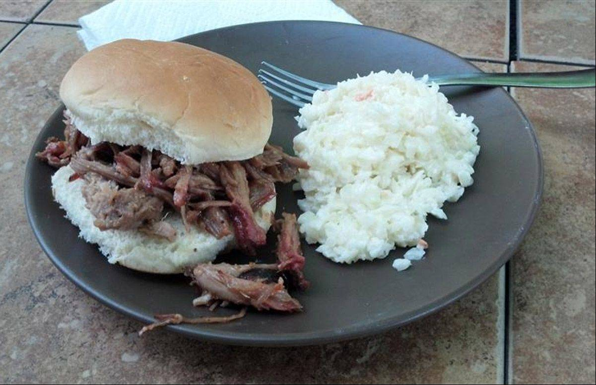 Cook of the Week Kevin Thomas' pulled pork sandwich.