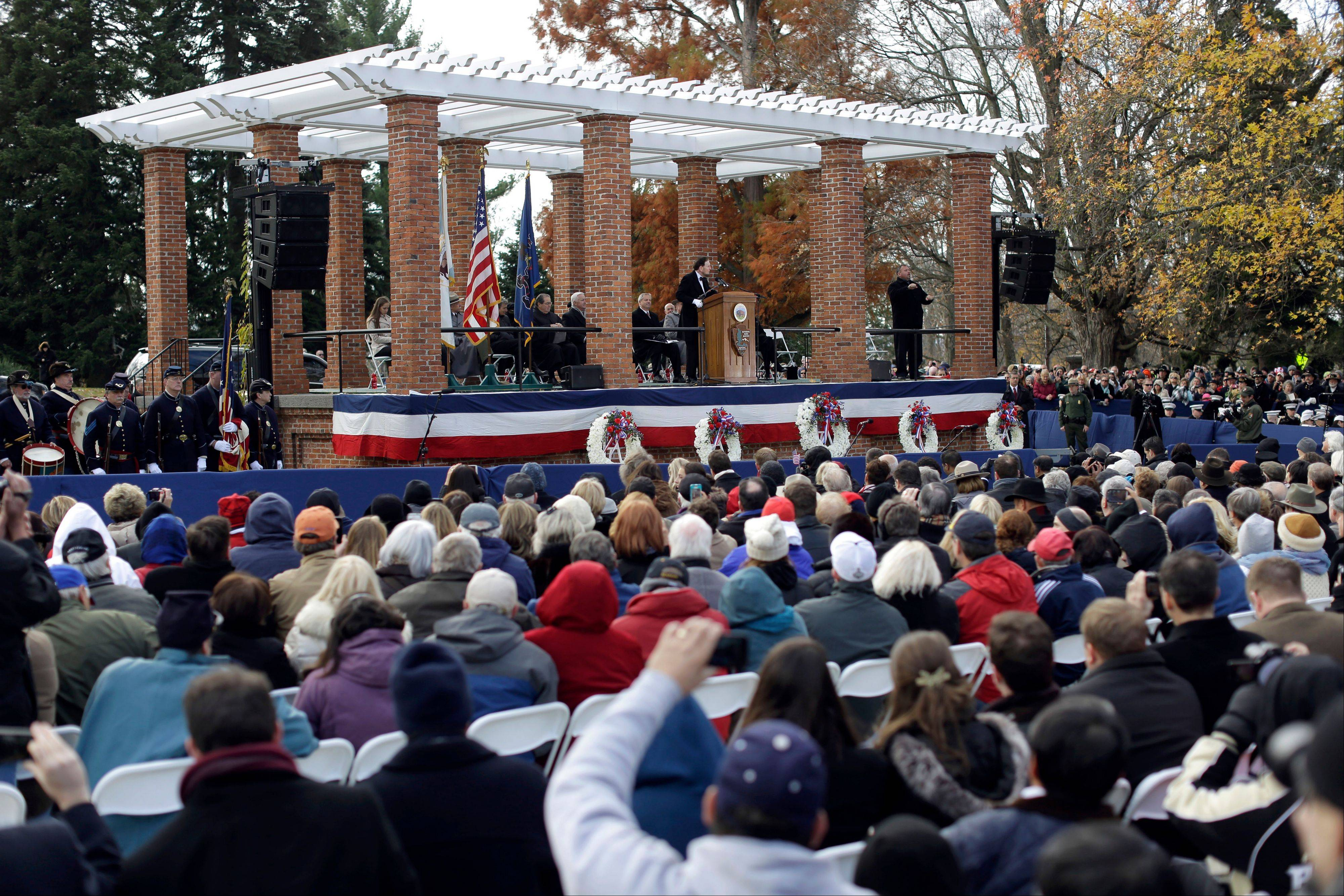 Thousands gathered Tuesday to commemorate the 150th anniversary of the Gettysburg Address.